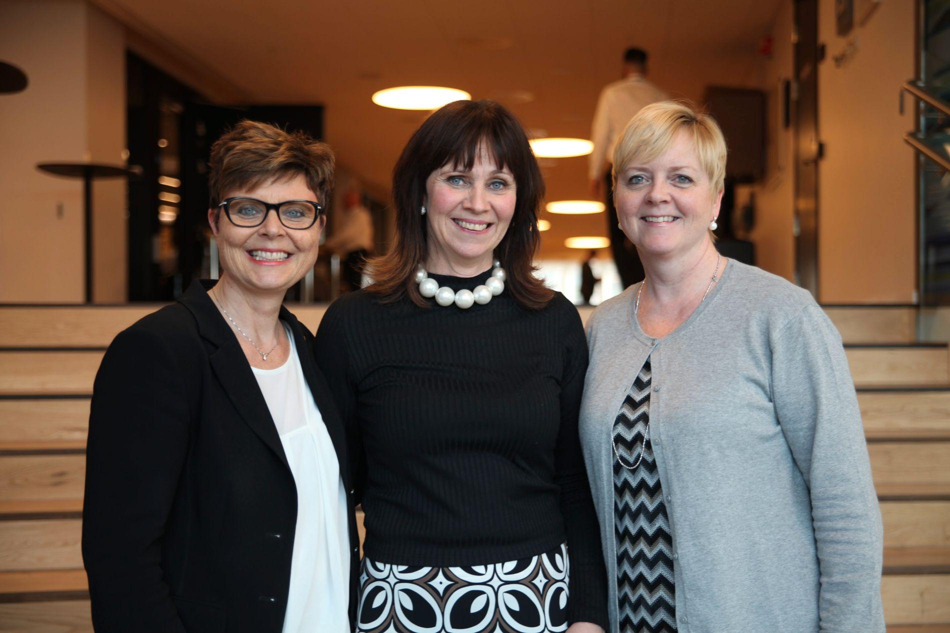 BEGYNNELSEN: Det startet med tre fylkesordførere som skulle skape ett samlet vestland: Anne Gine Hestetun (Hordaland), Jenny Følling (Sogn og Fjordane) og Solveig Ege Tengesdal (Rogaland).
