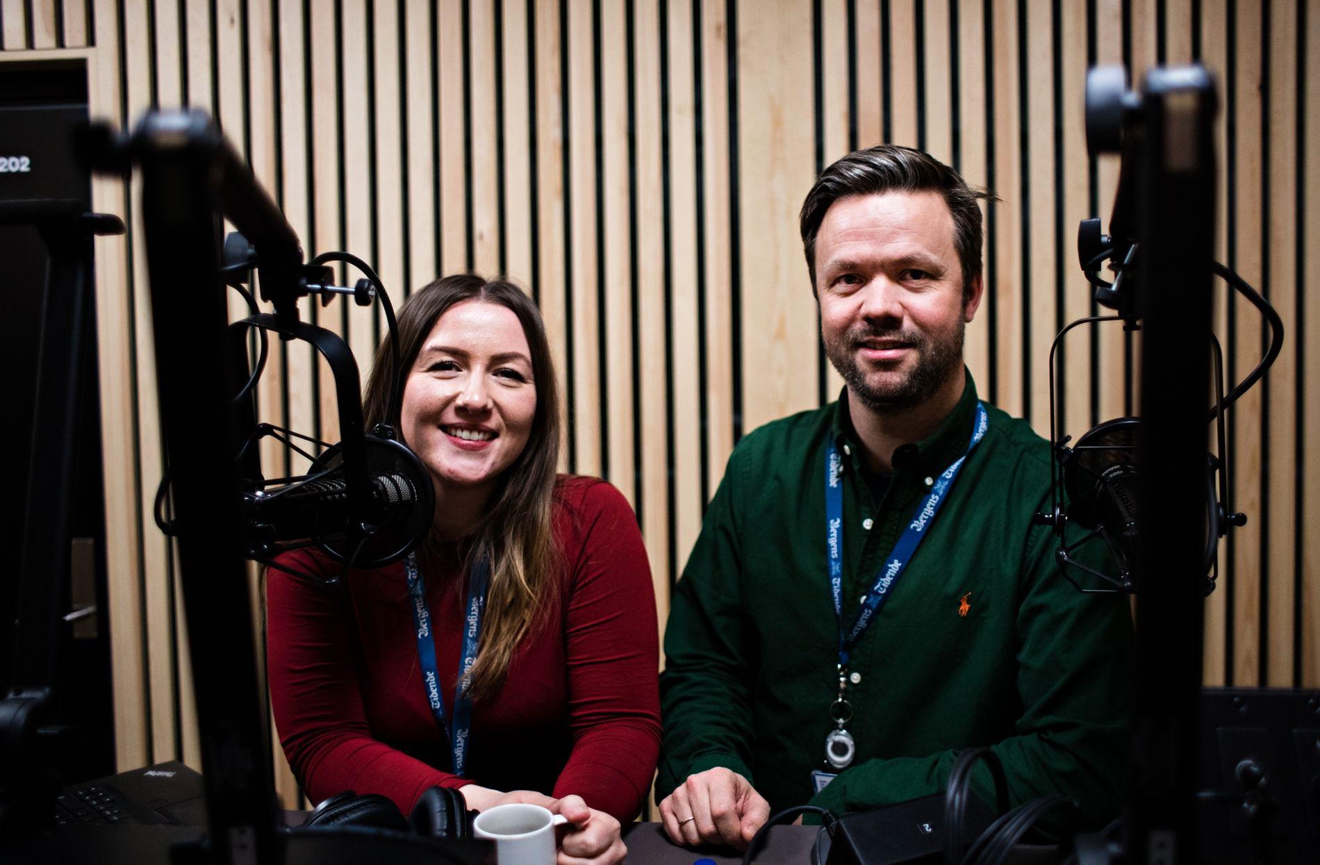 PROGRAMLEDERE: Ingvild Vereide Nave og Kjetil Ullebø er programledere i BTs podkaster BT20 og Republikken. Nå kan du også høre dem i BT Lytt.