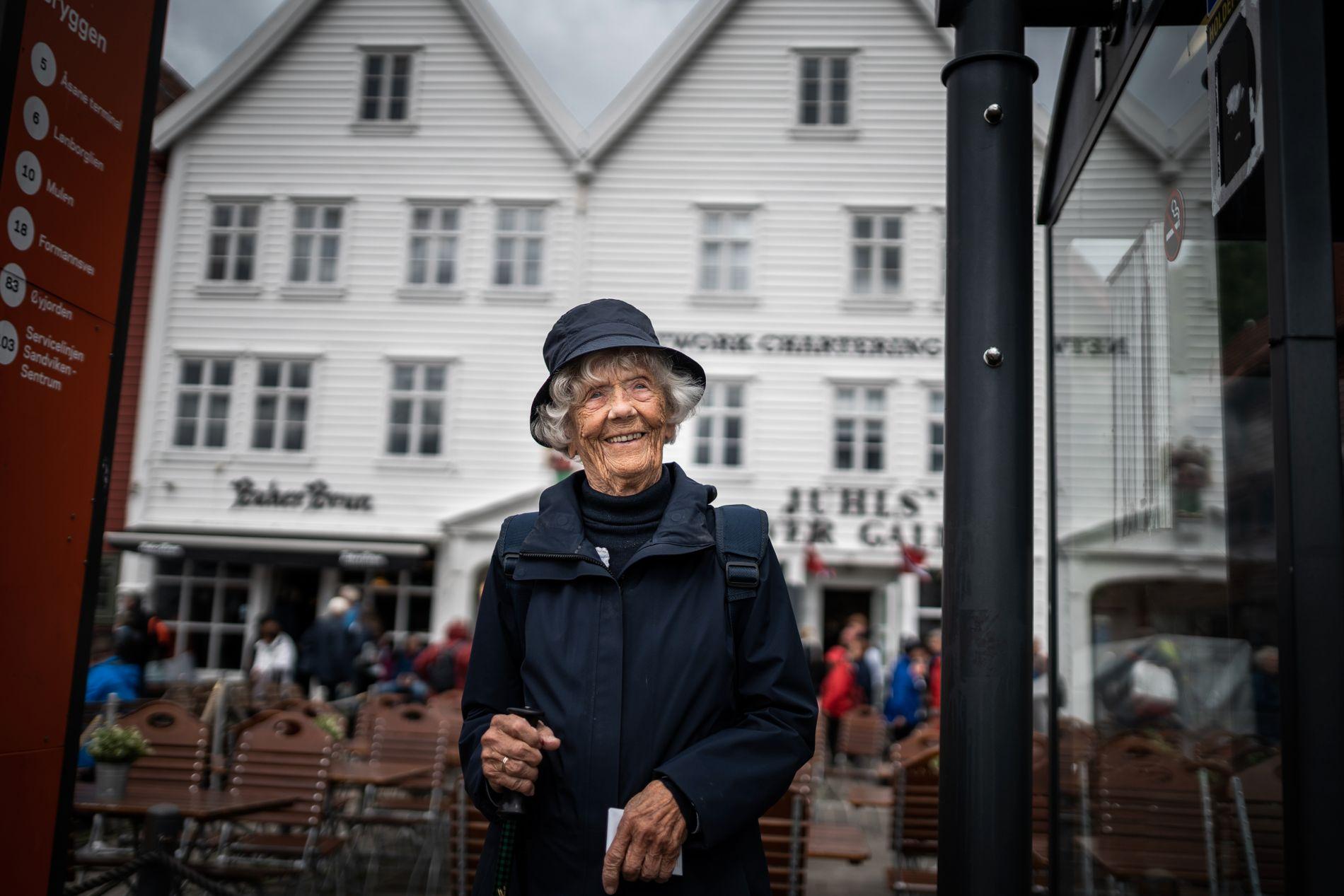 VENTER: Gerd Brekke har bodd i Bergen i hele sitt liv.