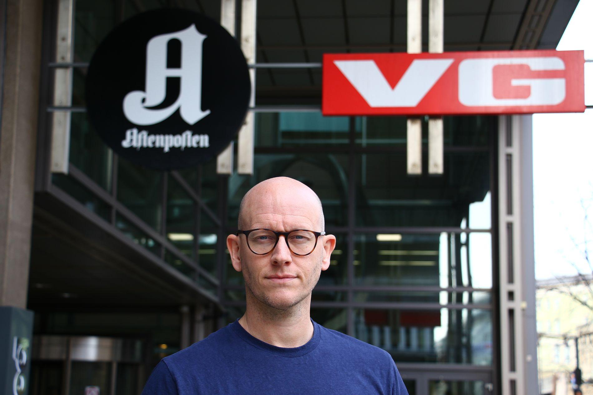 SVARER: VGs digitalredaktør Ola Stenberg uttaler seg på vegne av VG-ledelsen i den pågående granskingen av Giske-saken.