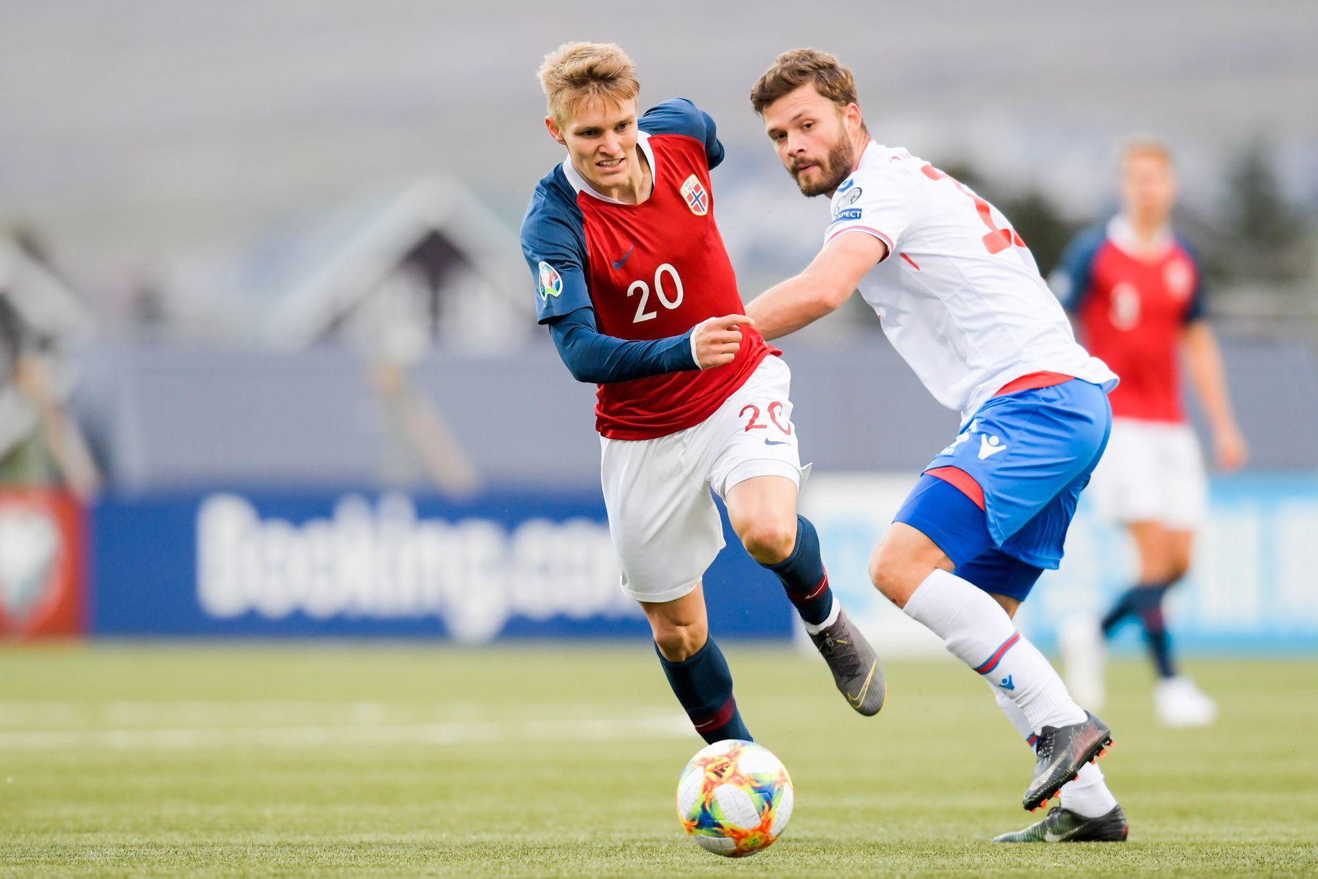 Rogvi Baldvinsson og Færøyene skapte problemer for Norge og Martin Ødegaard.