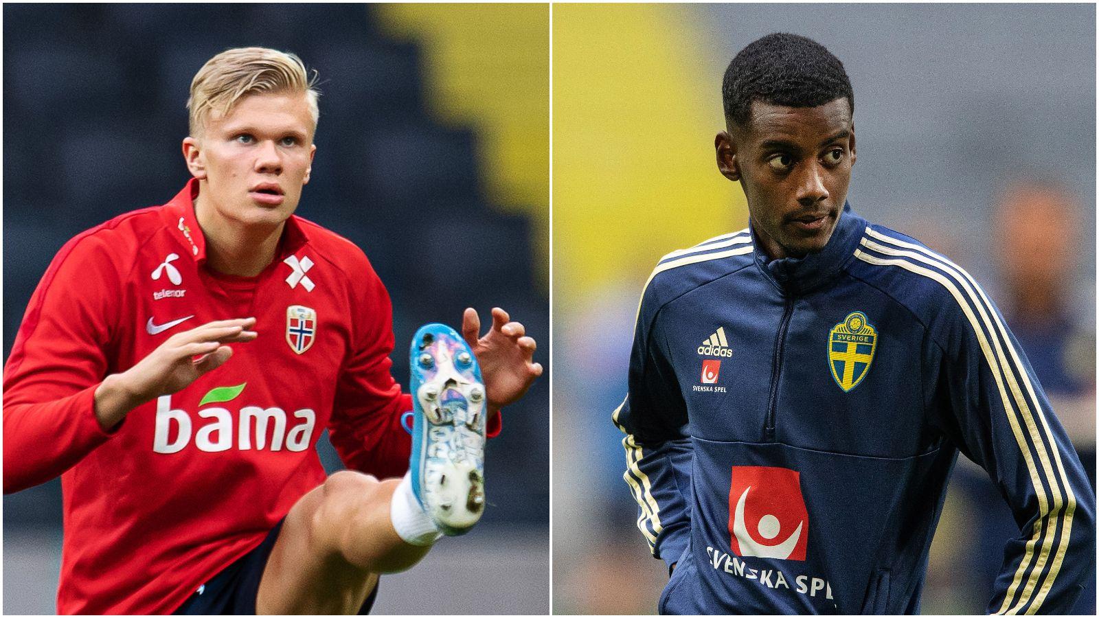 Tenåringene Erling Braut Haaland og Alexander Isak gir henholdsvis Norge og Sverige håp for fremtiden.
