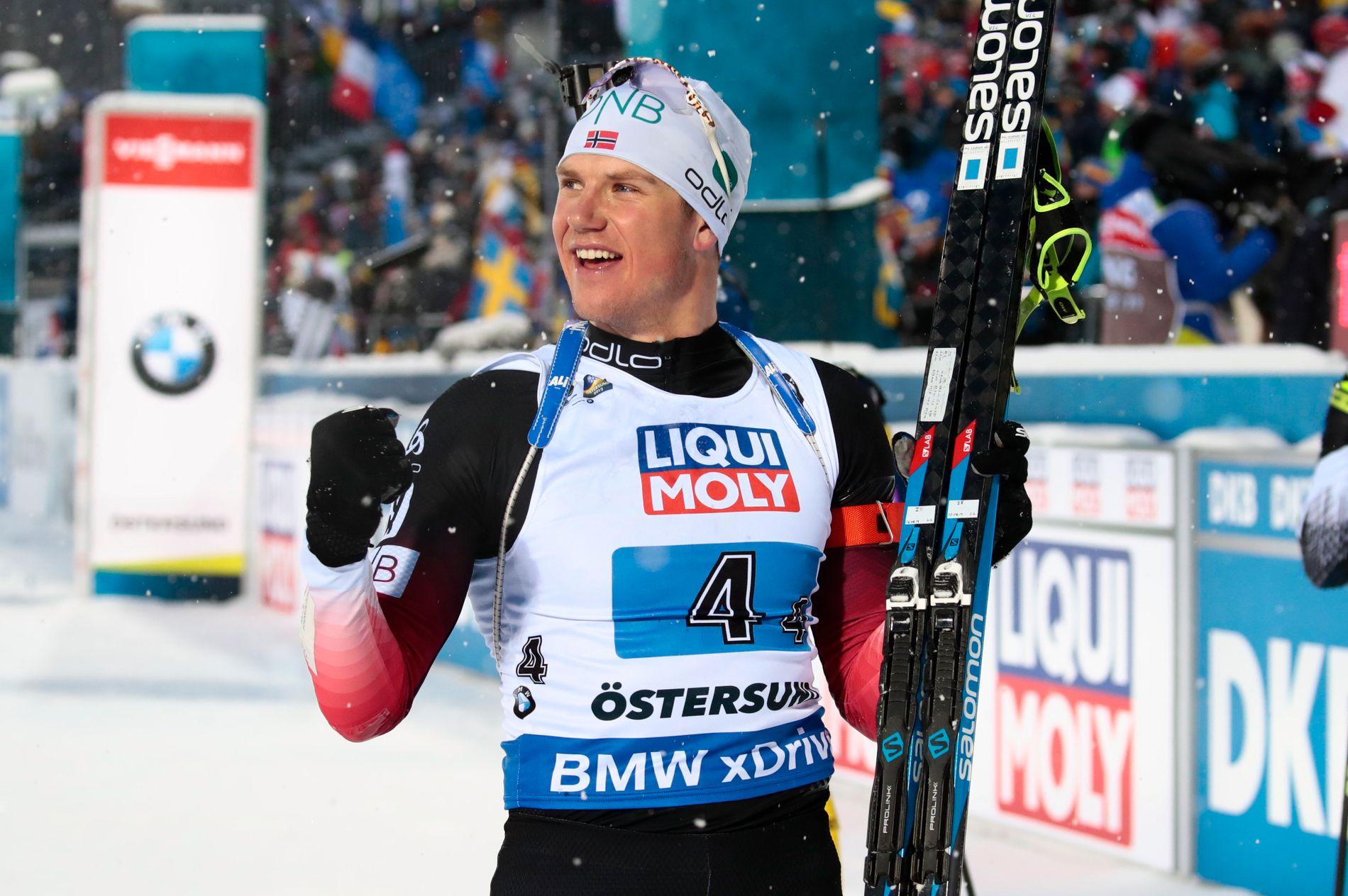 Vetle Sjåstad Christiansen tok vare på sjansen som ankermann og sørget for norsk VM-gull i blandet stafett.