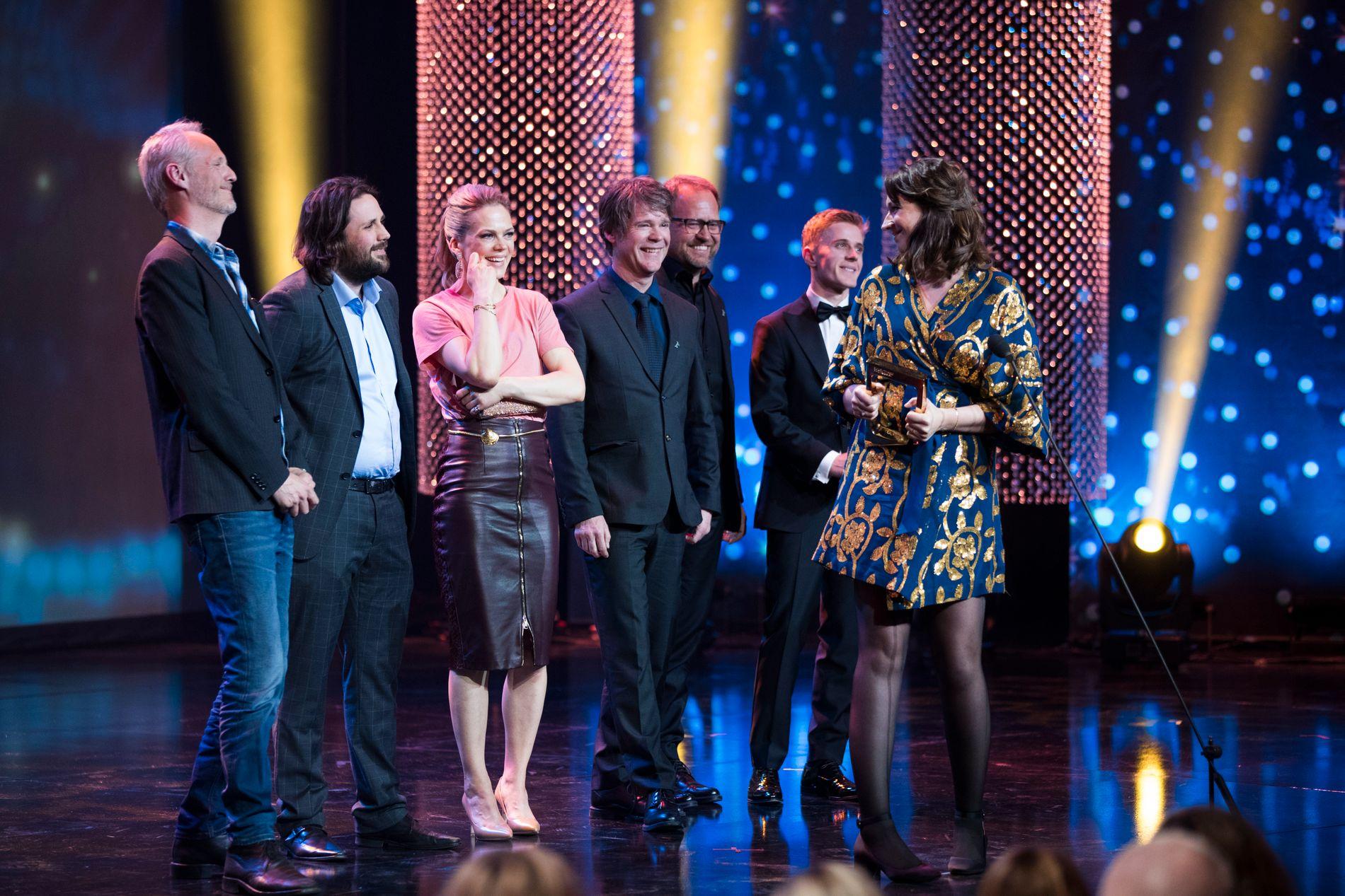 VANT: Heimebane fikk prisen for beste dramaserie under Gullruten 2018.