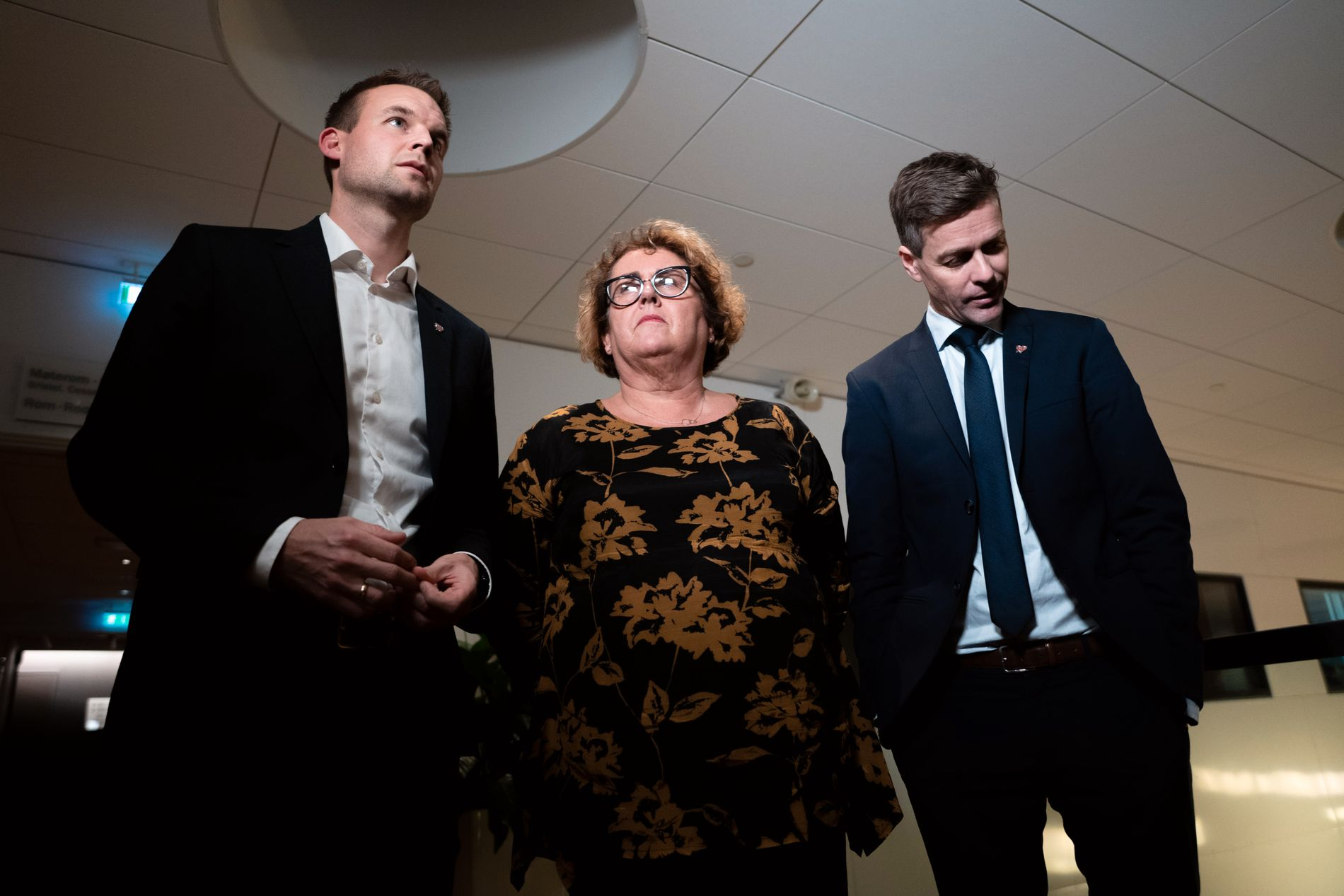 LEDERTRIOEN: Partileder Knut Arild Hareide med nestlederne Kjell Ingolf Ropstad og Olaug Bollestad.