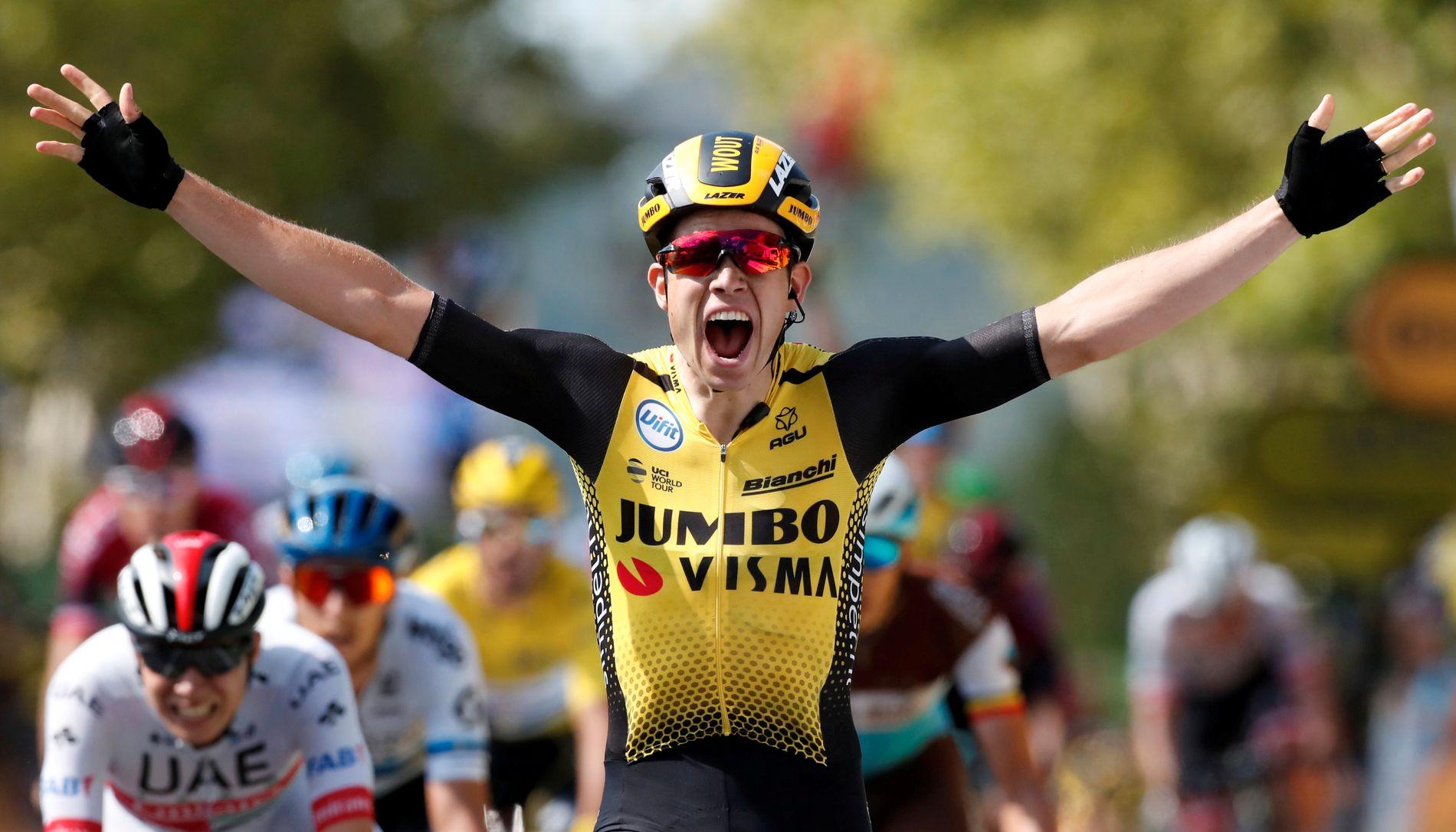 Wout van Aert vant en Tour de France-etappe for fire dager siden. Fredag måtte han bryte etter en stygg velt.