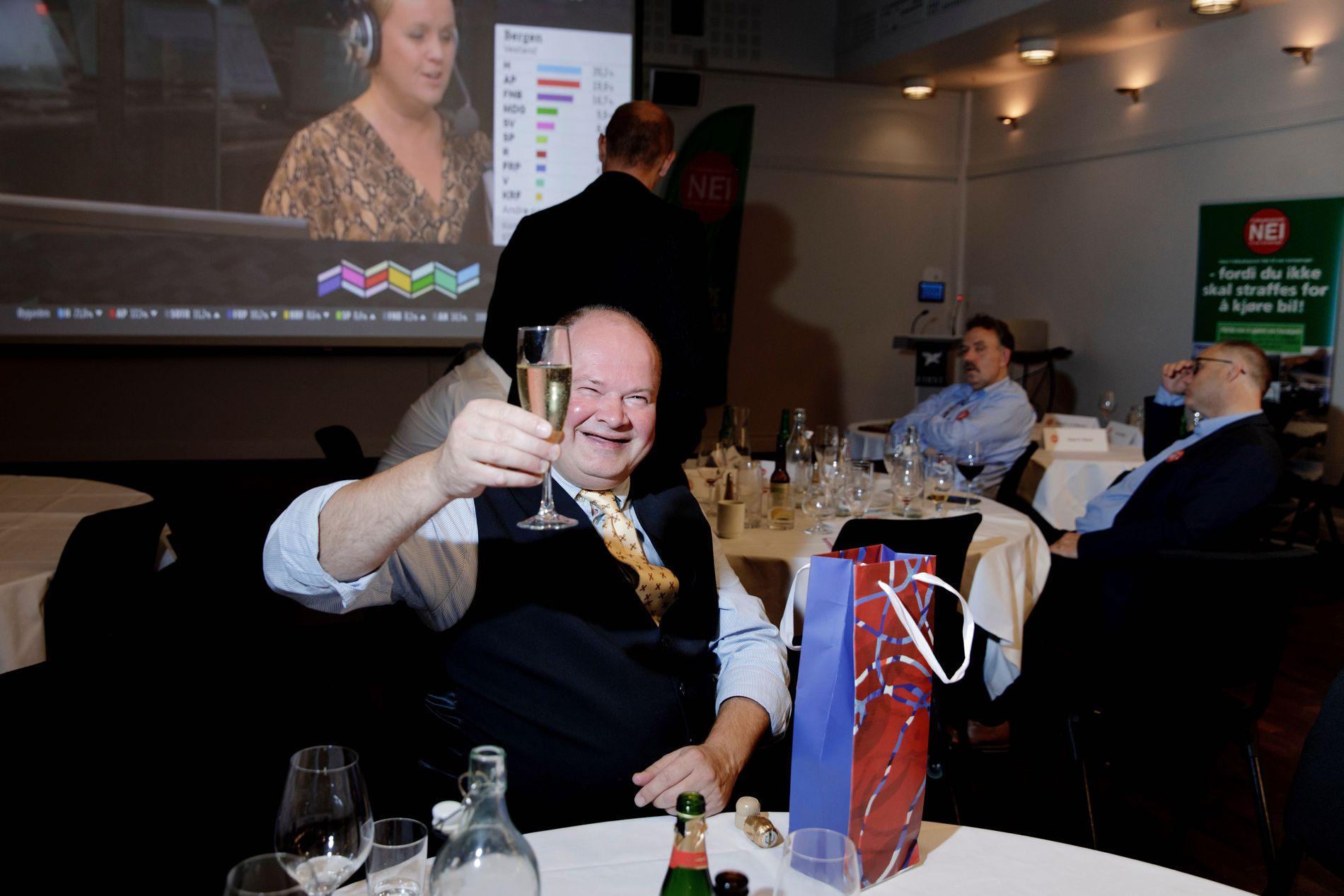 BRAKVALG: Trym Aafløy (Fnb) hadde god grunn til å smile på valgkvelden.