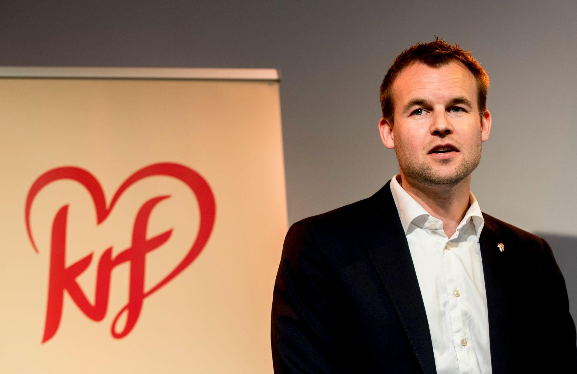 – Av 4.000 listekandidater som stiller opp, så er 500 KrFU-ere og under 33 år, sier KrFs lederkandidat Kjell Ingolf Ropstad. Foto: Vidar Ruud / NTB scanpix