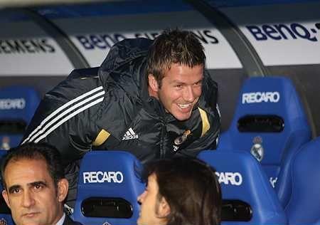 David Beckham har slitt benken i Real Madrid.