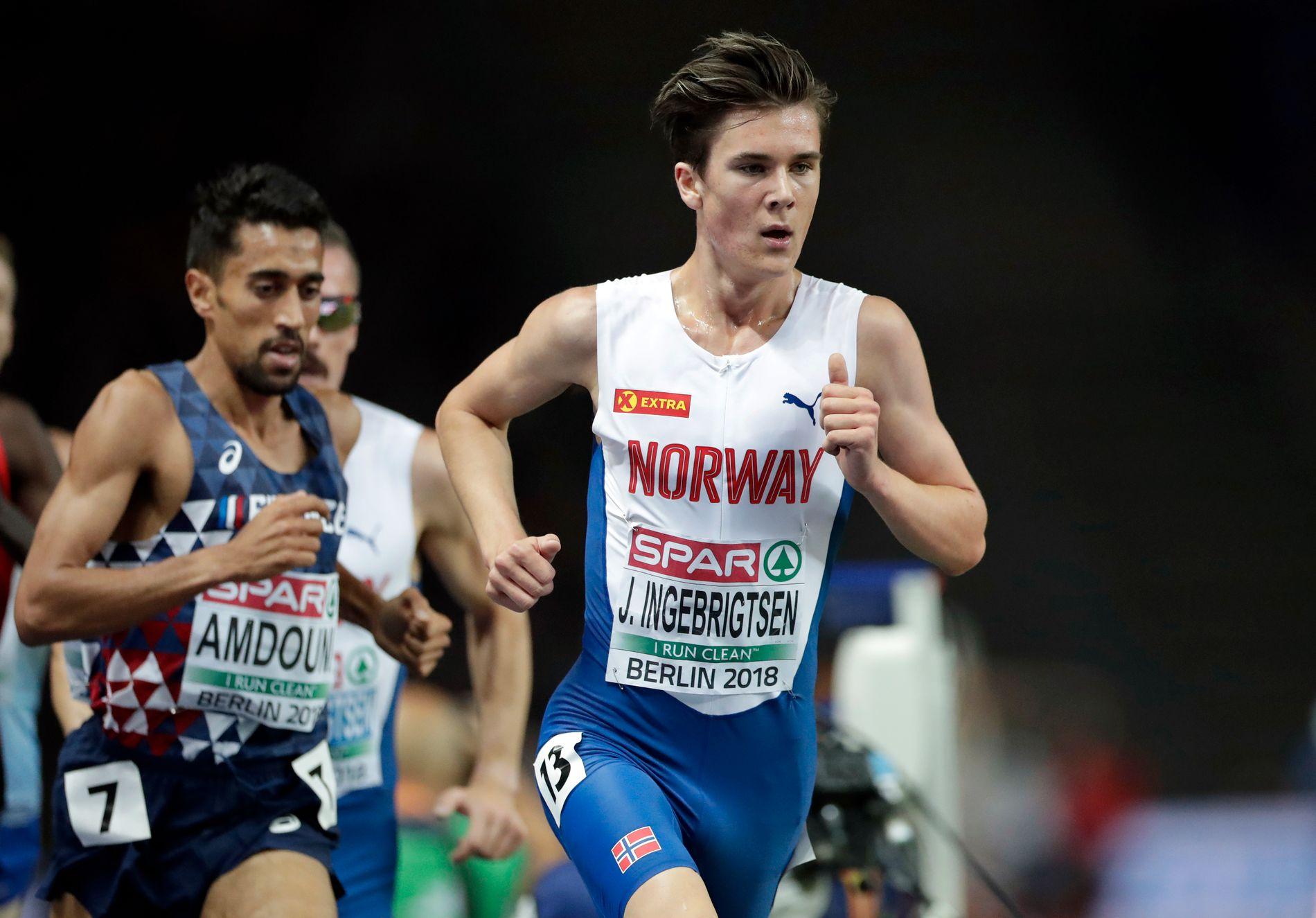 Jakob Ingebrigtsen løper 1500 meter klokken 16.54 i dag, lørdag.