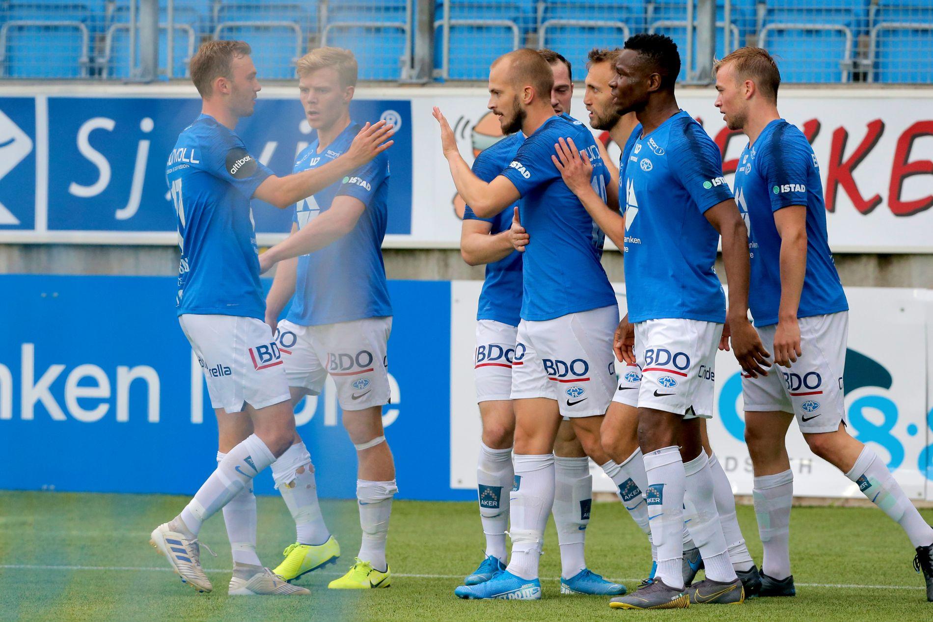 Molde feiret scoringen til Eirik Hestad.