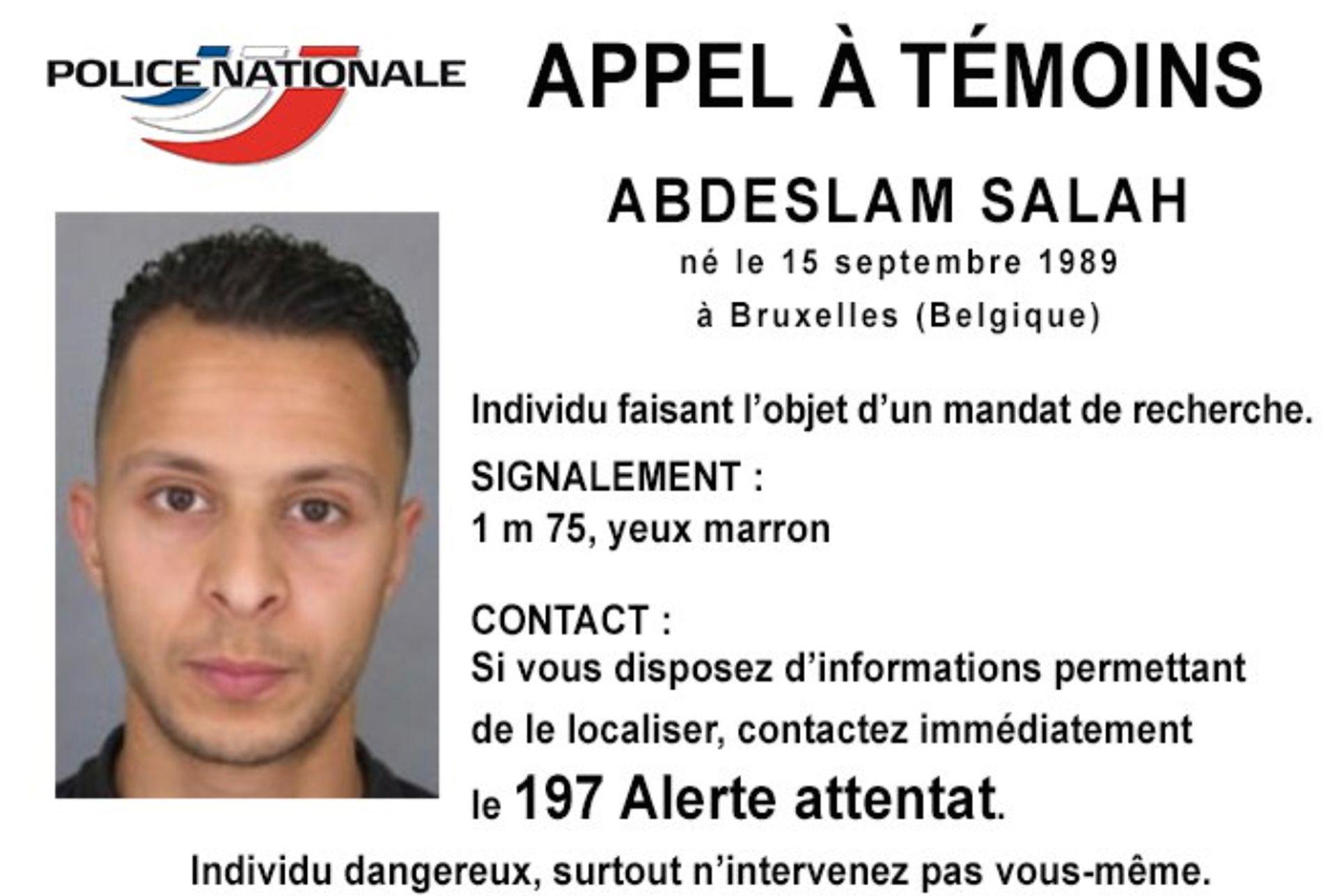OMBESTEMTE SEG: Terrorsiktede Salah Abdeslam hadde planer om å sprenge seg i luften ved fotballstadion Stade de France i Paris 13. november i fjor.