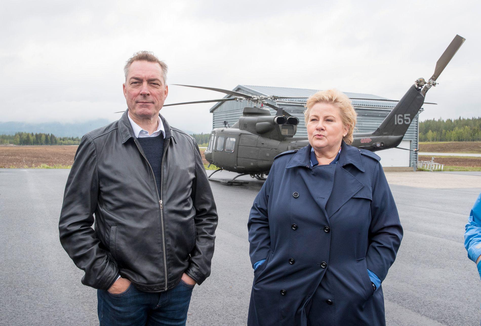 GNITEN: Statsminister Erna Solberg (H) bør gje forsvarsminister Frank Bakke-Jensen (H) midlane som trengst for å forsvare landet, skriv BT på leiarplass.