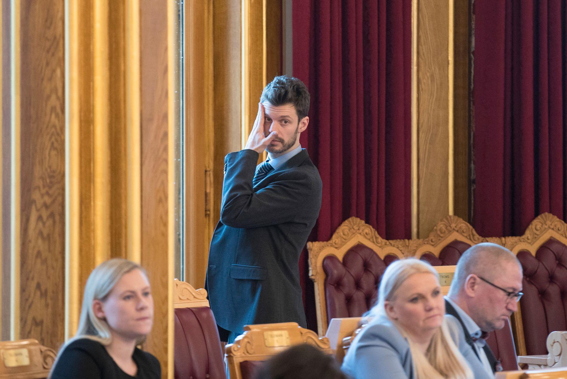 Rødt-leder Bjørnar Moxnes ville ha ledet en stortingsgruppe på åtte representanter dersom gjennomsnittet av de nasjonale målingene for april hadde blitt valgresultatet. Foto: Vidar Ruud / NTB scanpix