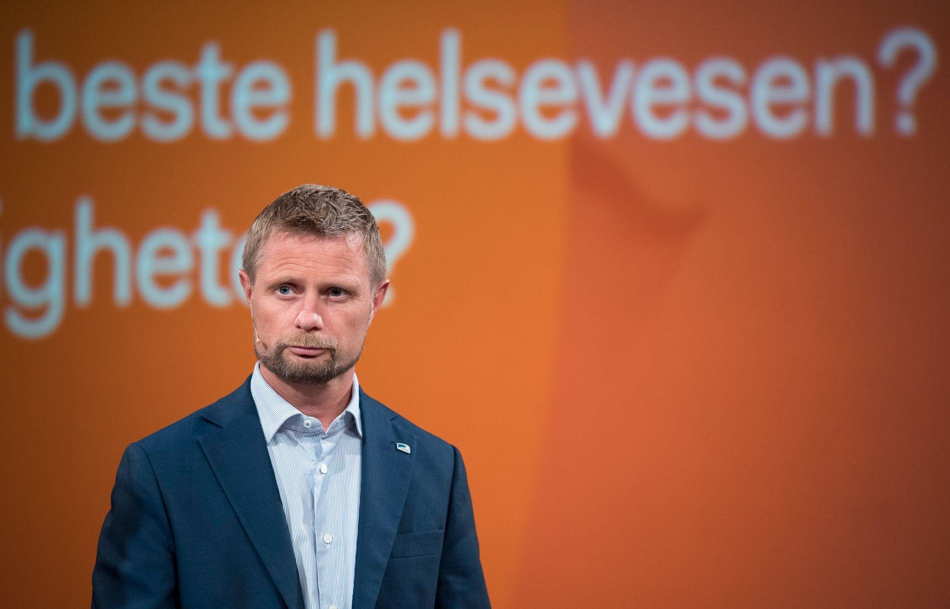 HELSEMINISTER: Bent Høie (H) har innført ordningen fritt behandlingsvalg, for ytterligere å avlaste det offentlige helsevesen ved at flere private aktører kan drive pasientbehandling.