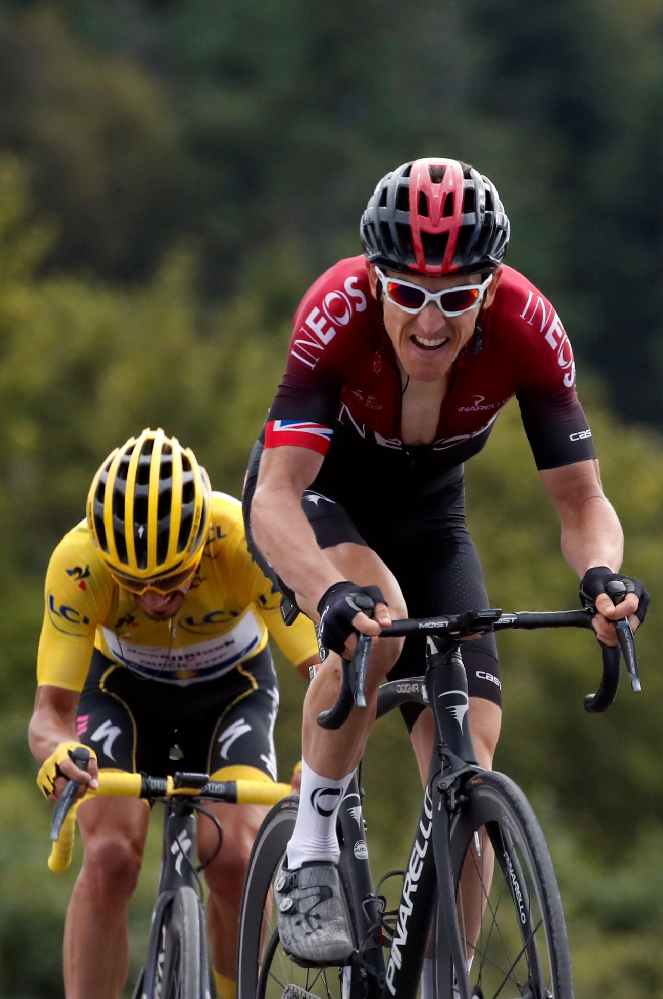 Det ble en god dag for regjerende Tour de France-mester Geraint Thomas.