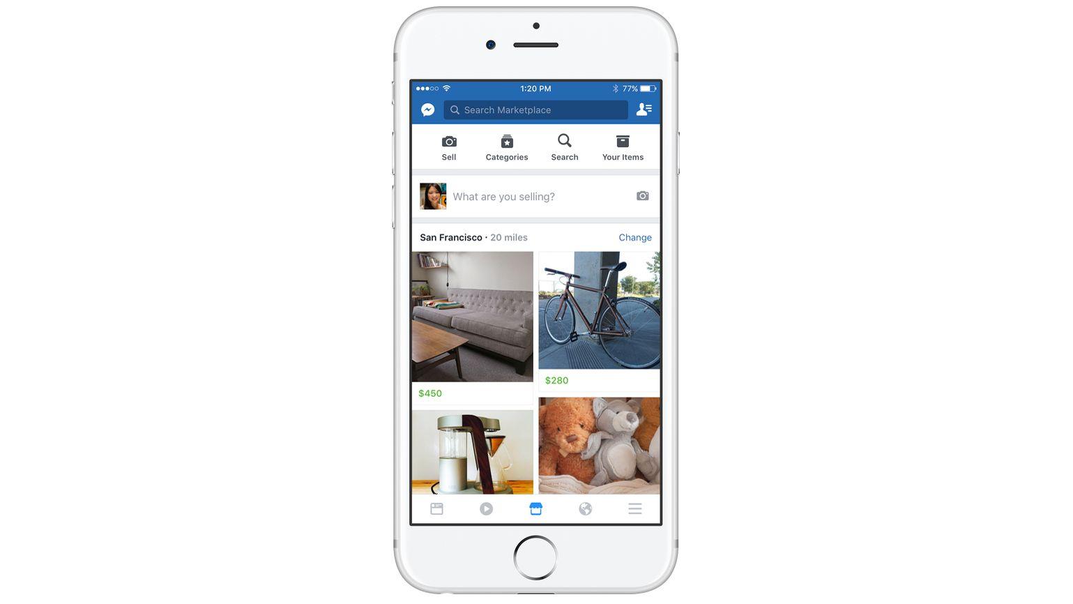 MARKEDSPLASS: Ifølge Facebook er det hver måned 450 millioner brukere som besøker ulike kjøp og salg-grupper. Nå vil de sette kjøp og salg i system og gi kjøpere og selgere et bedre verktøy, noe de forøvrig prøvde seg på allerede i 2007.