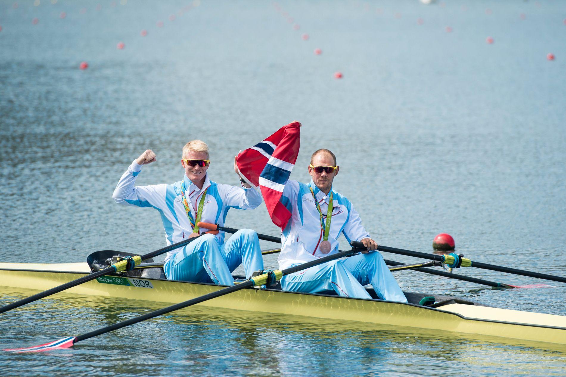 Kjetil Borch og Olaf Tufte fikset medalje samme under OL i Rio.