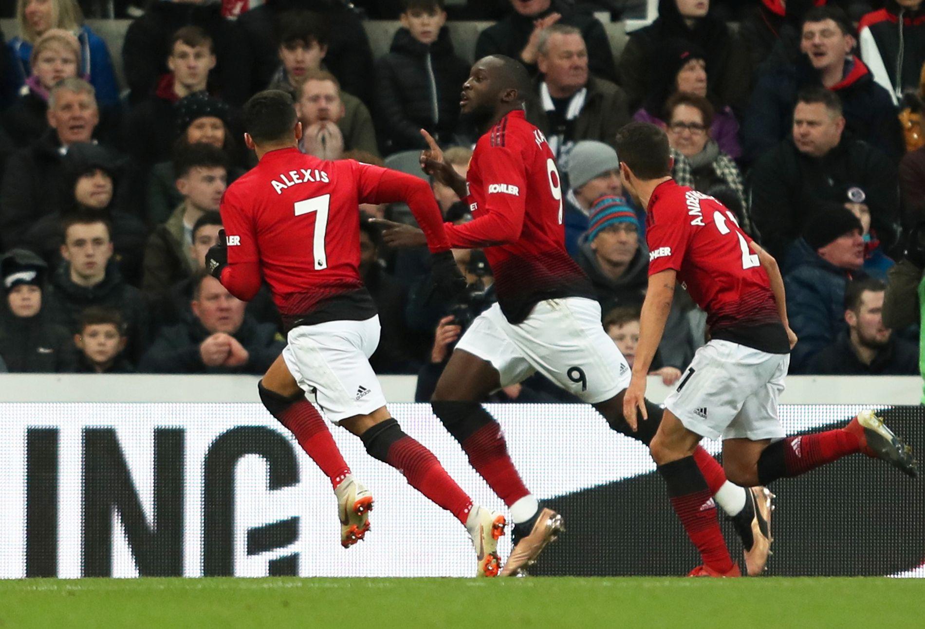 Romelu Lukaku scoret 1–0-målet mot Newcastle.