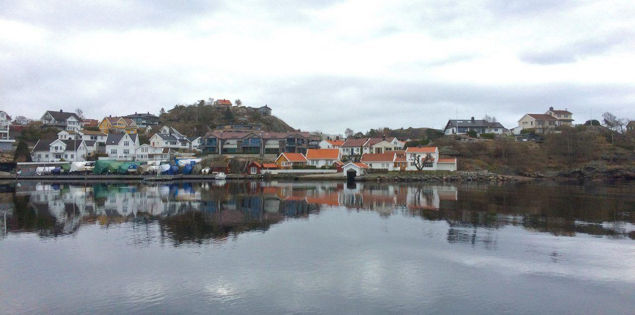 Boliger på Galgebergtangen i Kristiansand.
