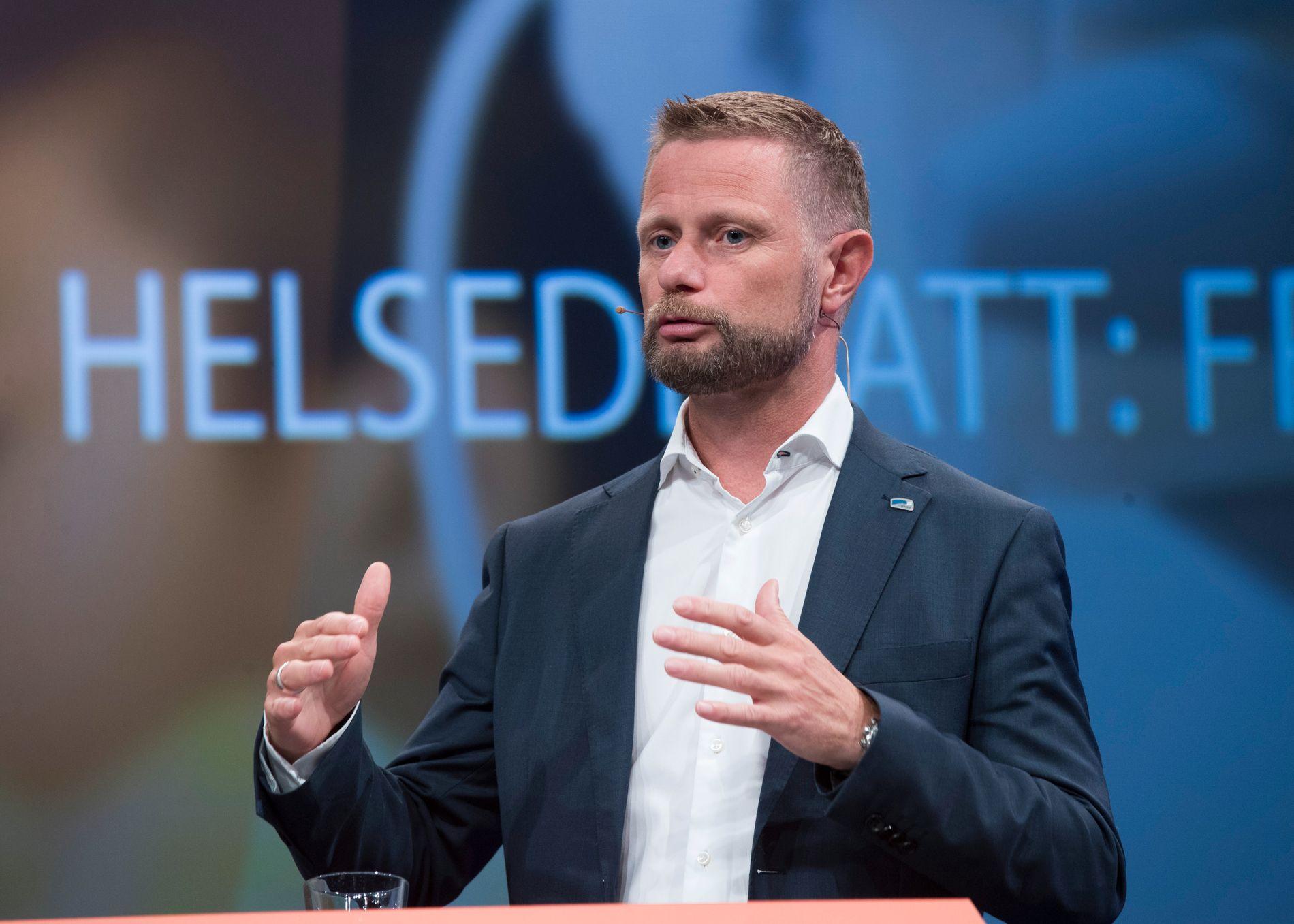 IKKE NÅDD MÅLET: Helseminister Bent Høie (H) har i flere år hatt et mål om sterkere vekst i psykisk helsevern og rusbehandling enn for somatikk. .