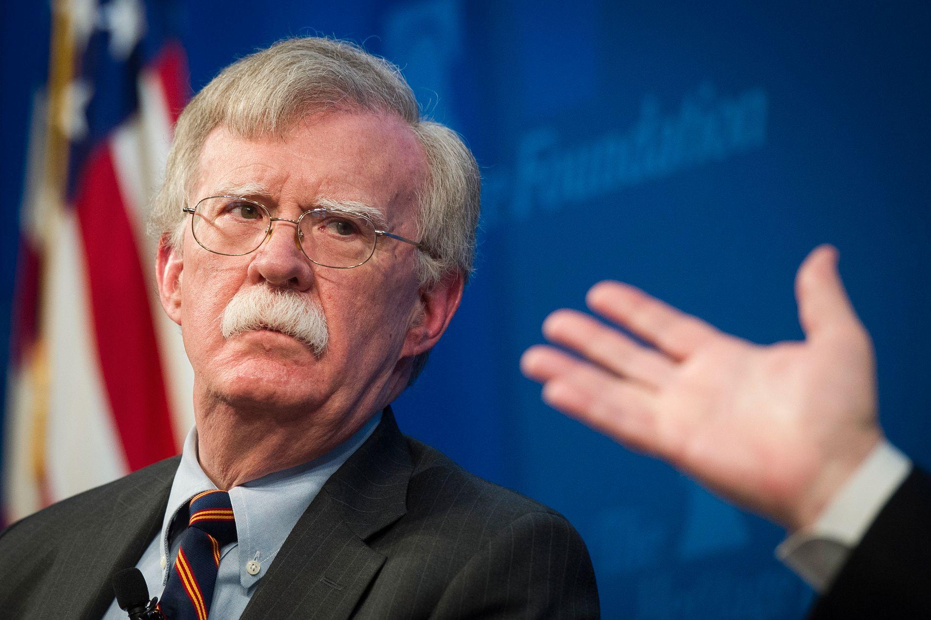 FRUSTRERT: USAs nasjonale tryggleiksrådgjevar John Bolton er frustrert over manglande framgang i Vest-Sahara. Torsdag i førre veke tok han opp temaet hjå tenkjetanken Heritage Foundation.
