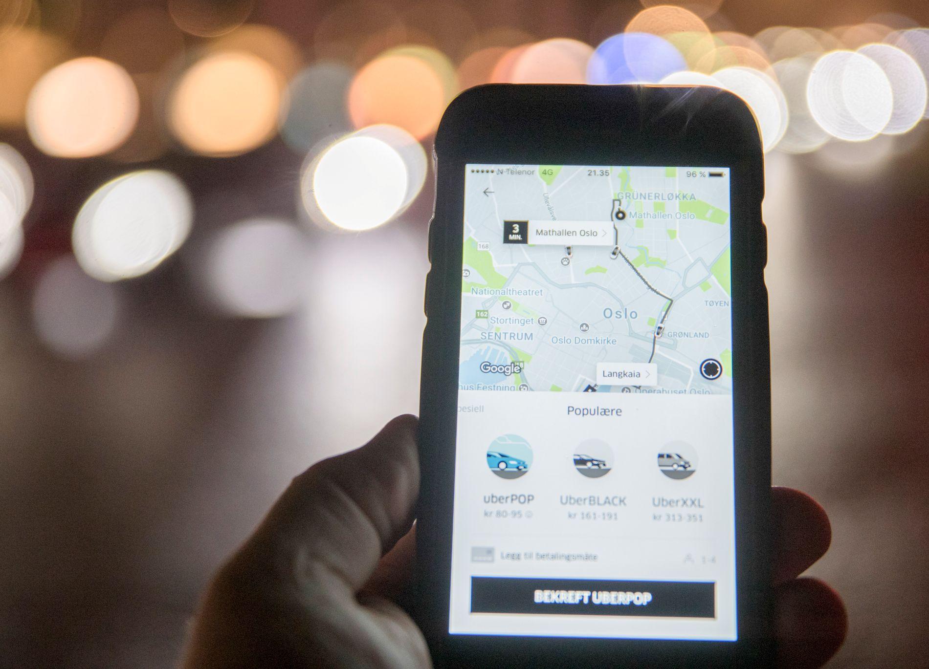SLUTT: Mandag kom meldingen om at Uber tar pause i Norge på ubestemt tid.