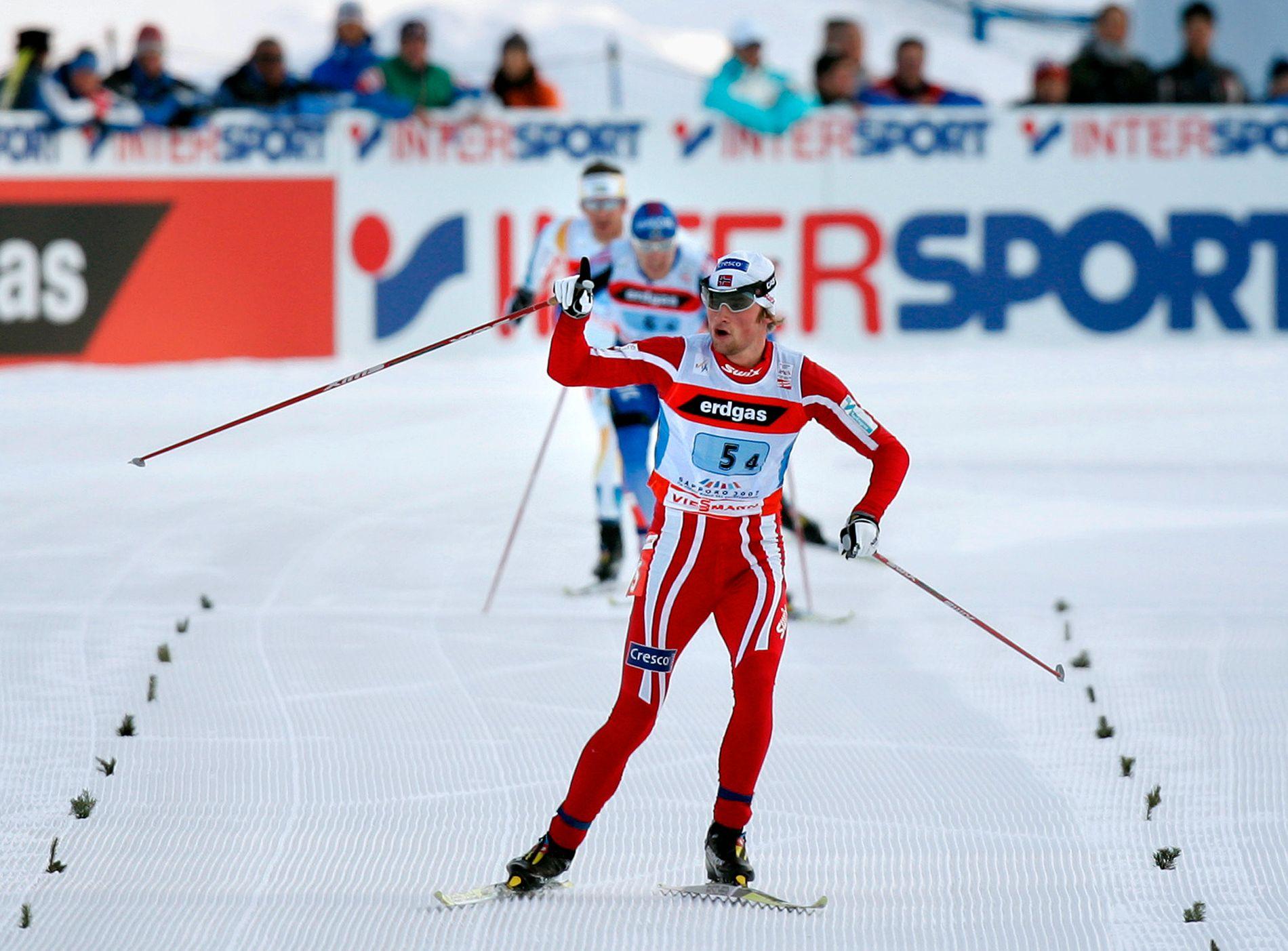 I 2007 ble Northug-rykket virkelig vist frem. Petter Northug stakk fra konkurrentene i siste bakke før mål og vant etter å ha skaffet seg en kjempeluke.