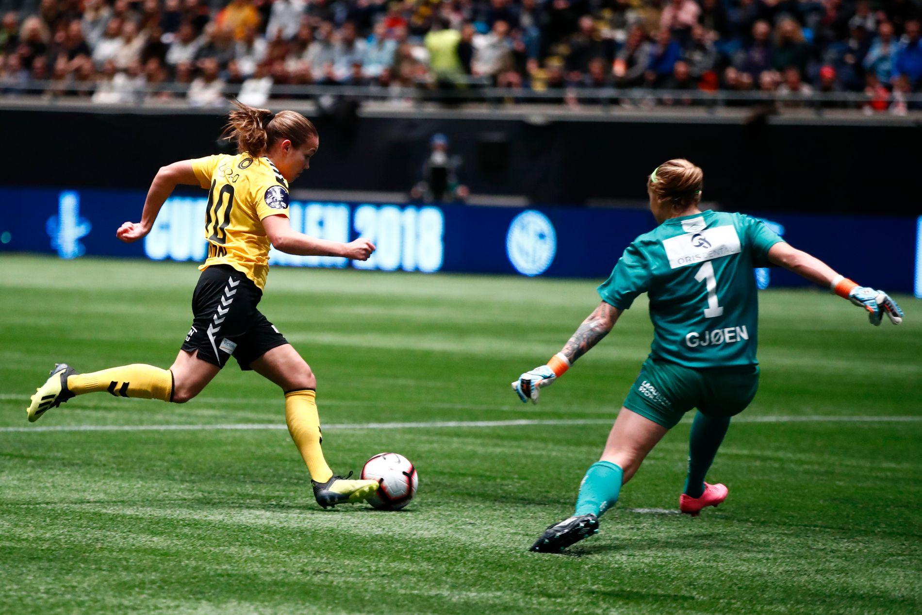 Lillestrøms Guro Reiten var toneangivende da LSK Kvinner tok sitt fjerde cupgull på fem år.