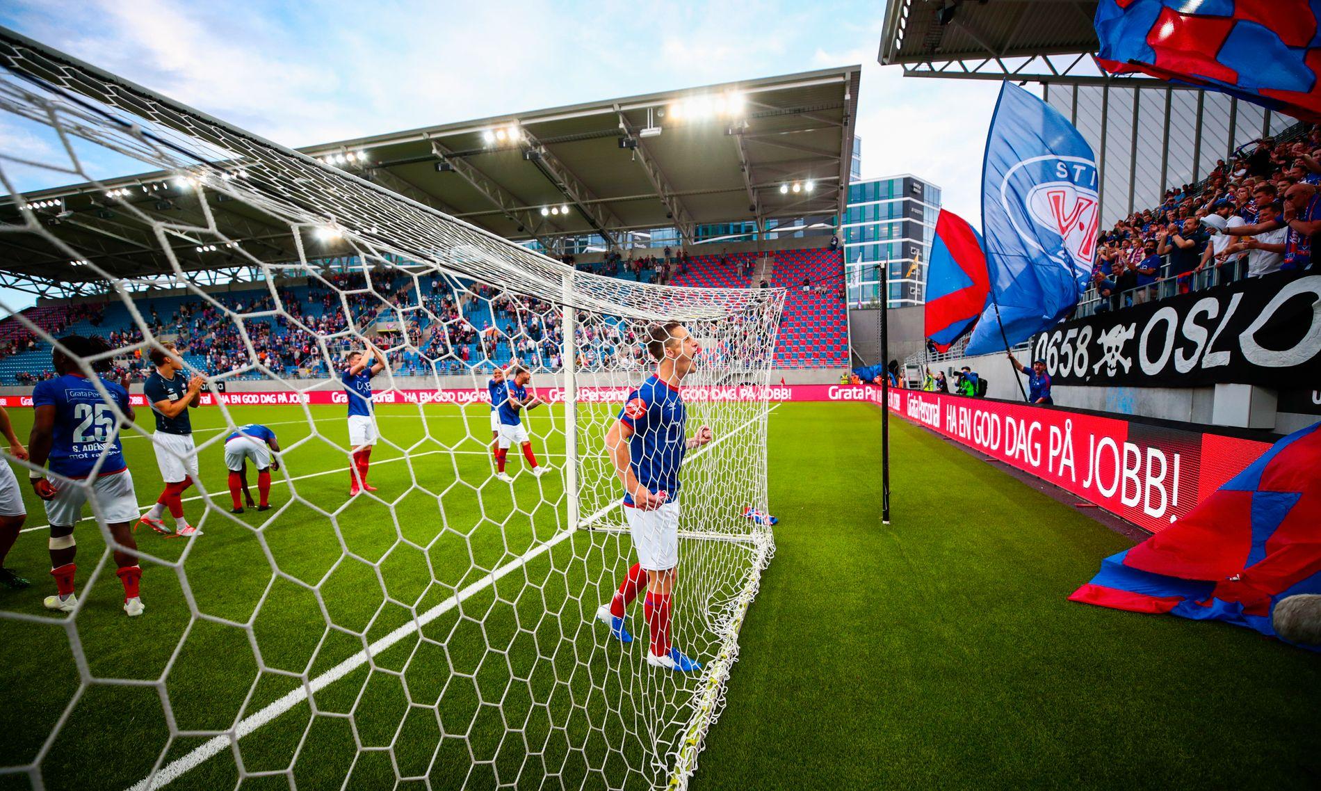 Vålerenga var skikkelig i siget i vårsesongen. Her jubler Herolind Shala etter hele 6–0 over Bodø/Glimt i mai. Det blir neppe resultatet i kommende kamp mot formsterke Glimt.
