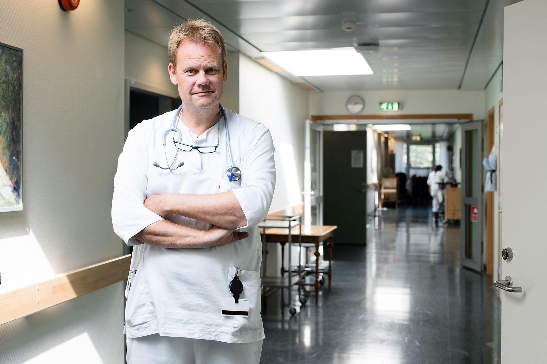 FORDELER: Som et mellomstort lokalsykehus med egen slagpost siden 1996 har Haraldsplass en rekke fordeler i ivaretagelsen av pasientene, skriver seksjonsoverlege for slag og geriatri på Haraldsplass, Paal Naalsund.