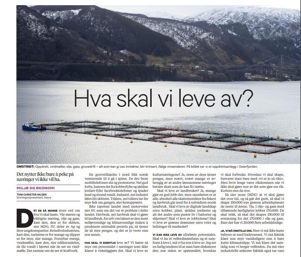 Skal vi leve av lobbyisme? Skal vi leve av grønne drømmer uten veier og ledninger til markedet? skrev Høyres Tom-Christer Nilsen i BT 20. februar.