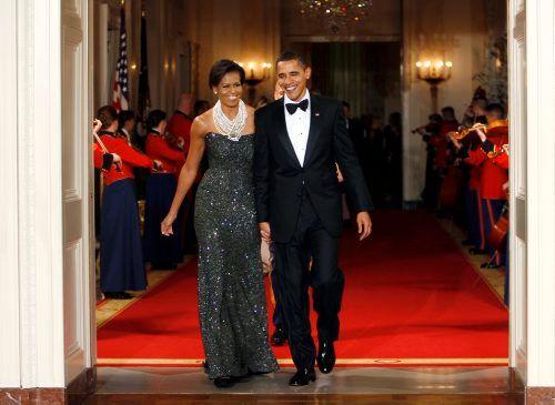PRESIDENTPARET: Michelle og Barack Obama nyter fremdeles stor popularitet.