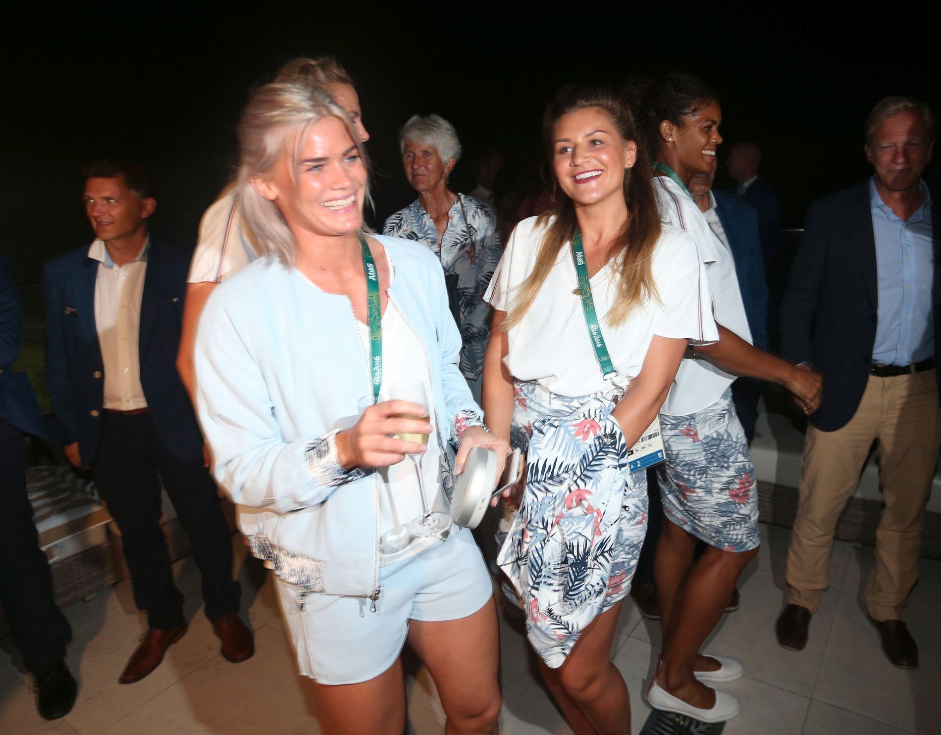 Veronica Kristiansen og Amanda Kurtovic på nattens OL-bankett.