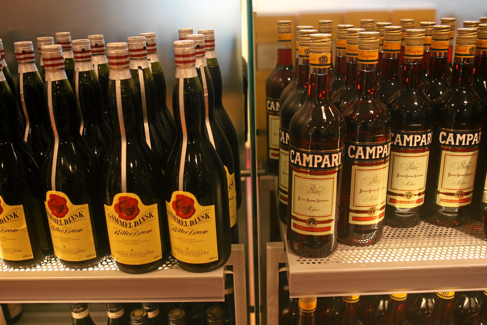 PINNE FOR LANDET: Gammal Dansk eller Campari – valet er ditt. Staten spanderer uansett alkoholavgifta.