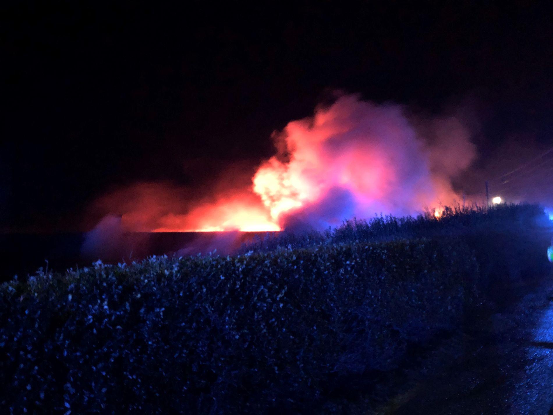 Tomannsbolig overtent i Florø – 13 evakuert