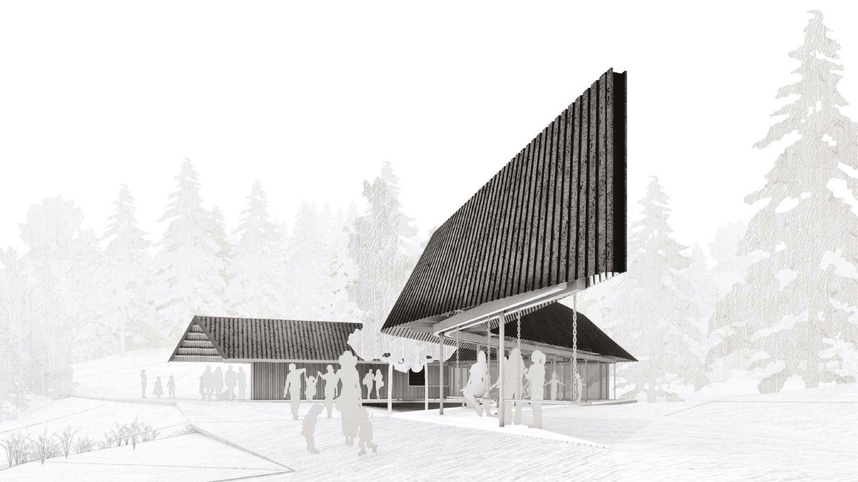 FØRSTEPLASS: Slik blir Skomakerstuen. Bygget er et resultat av en nasjonal arkitektkonkurranse for to år siden.