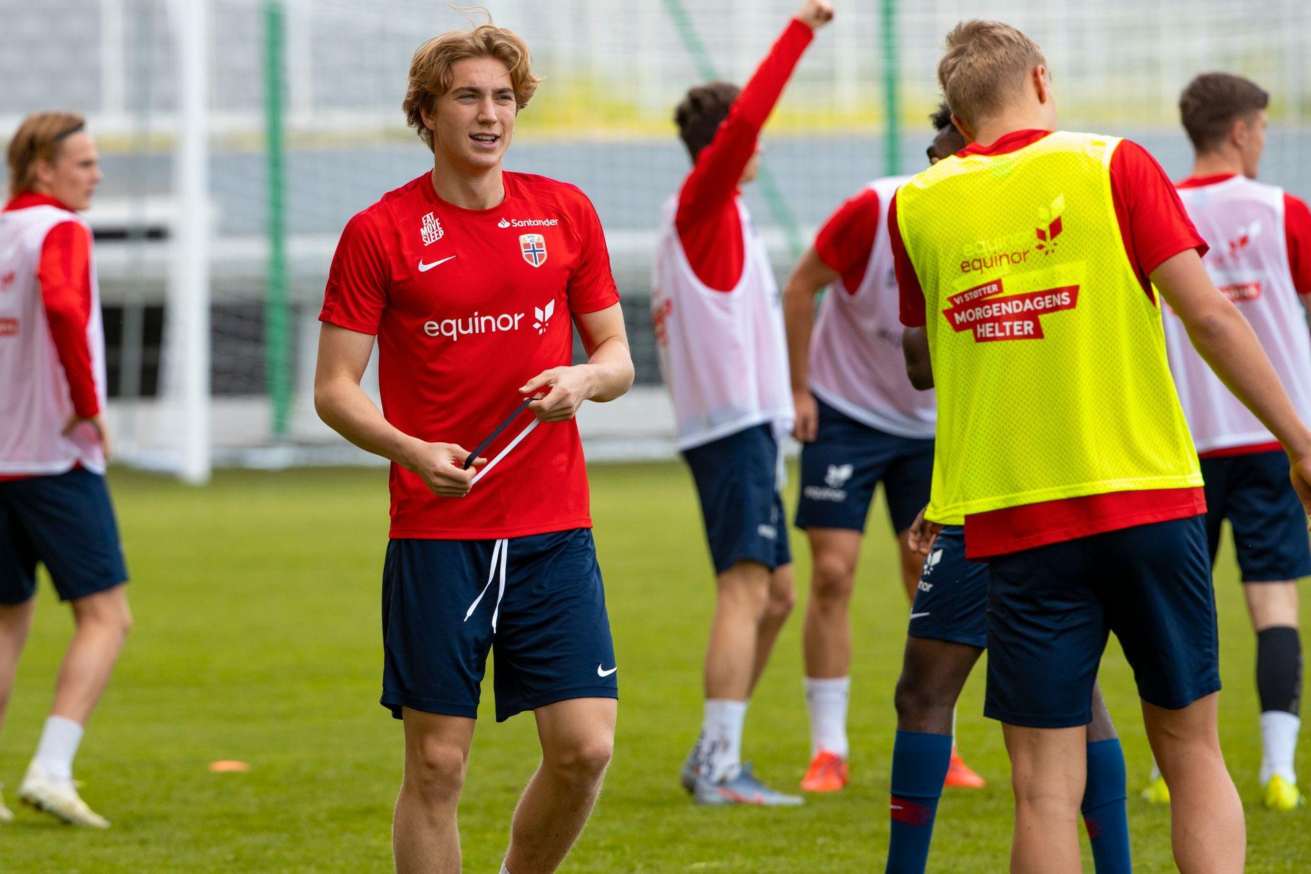 Kristian Thorstvedt fikk landslagstreneren til å dra frem superlativene etter lørdagens trening.