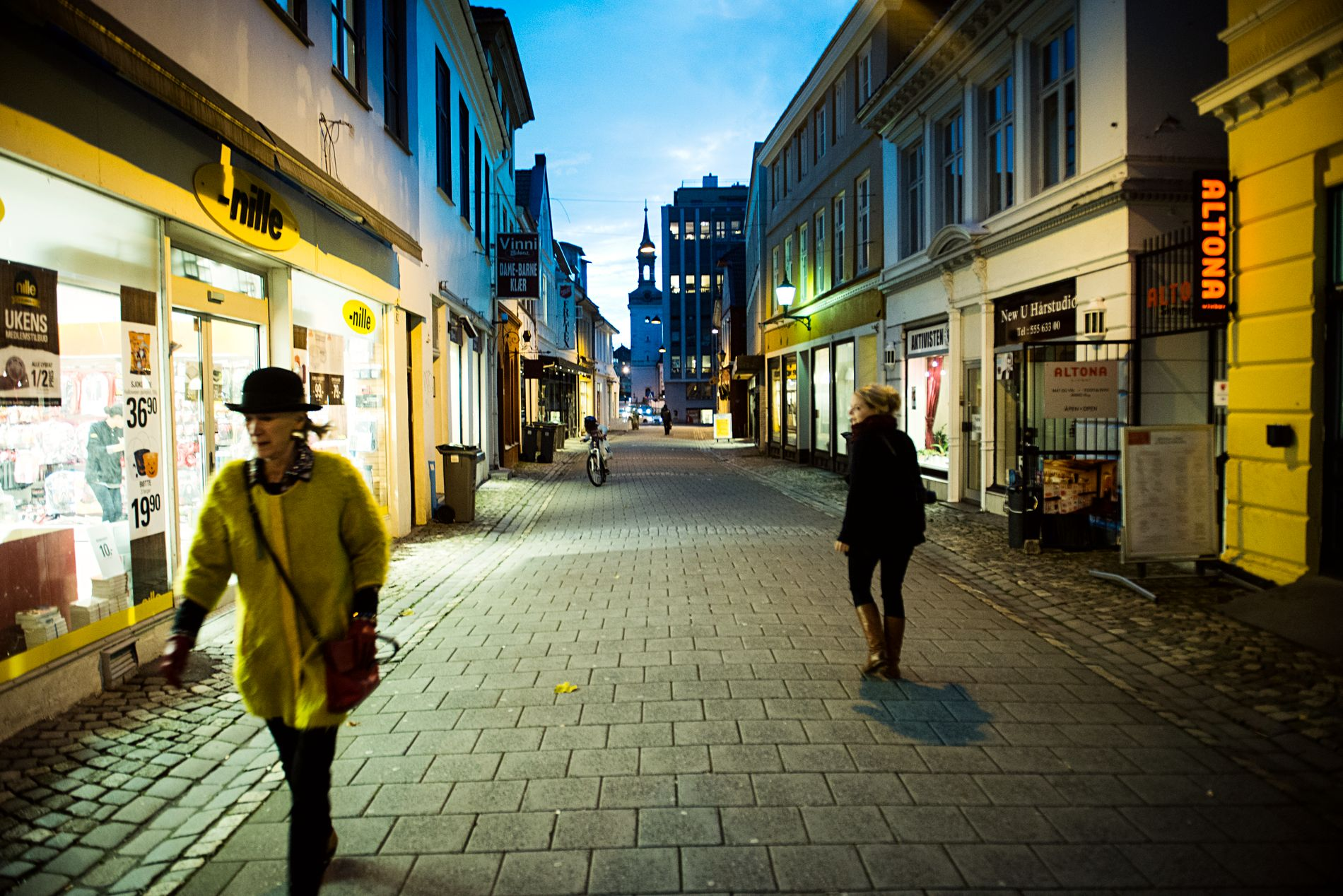 TRADISJONSRIK: Gaten som i dag er kjent som Gågaten, het tidligere Gamle Strandgaten.