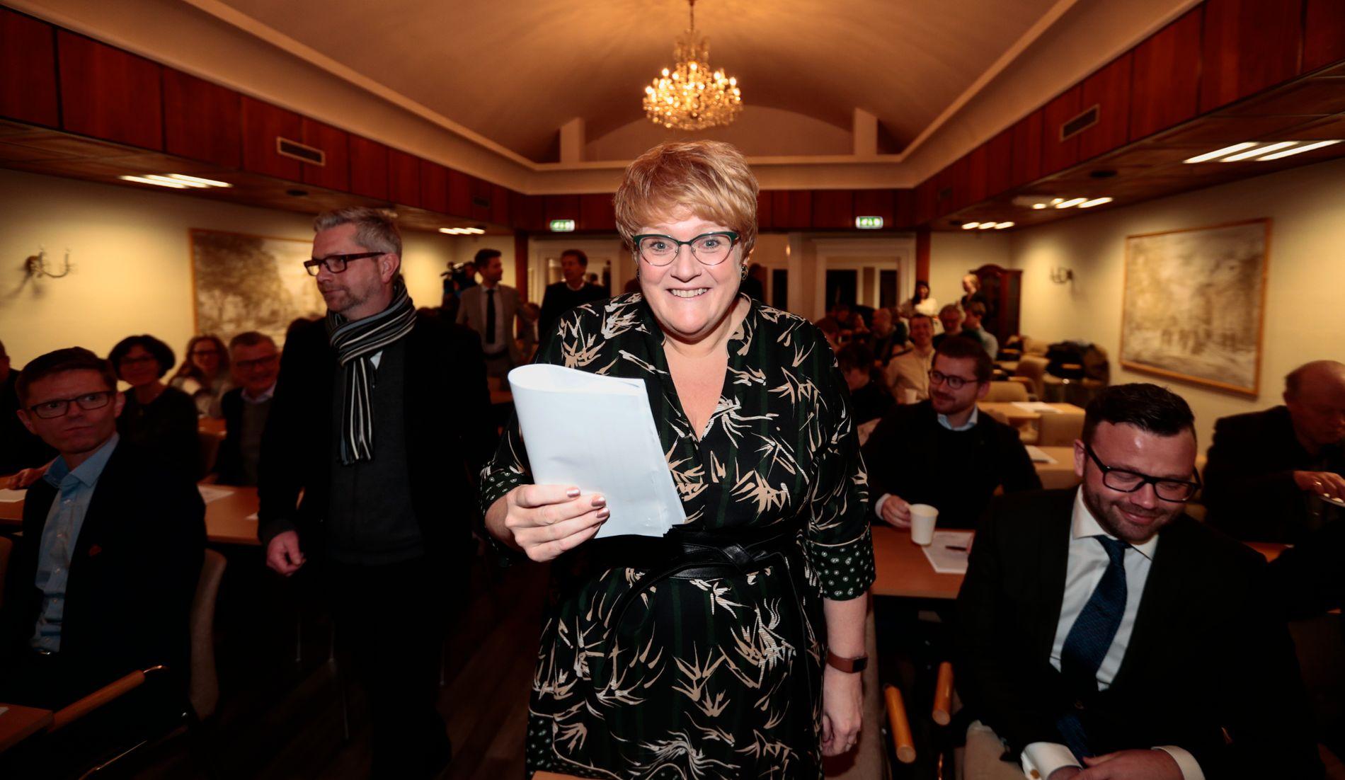 NY KULTURMINISTER? Venstres partileder Trine Skei Grande er av mange tippet som kulturminister i en ny regjering. Ikke noe dårlig tips, mener kulturredaktør Frode Bjerkestrand.