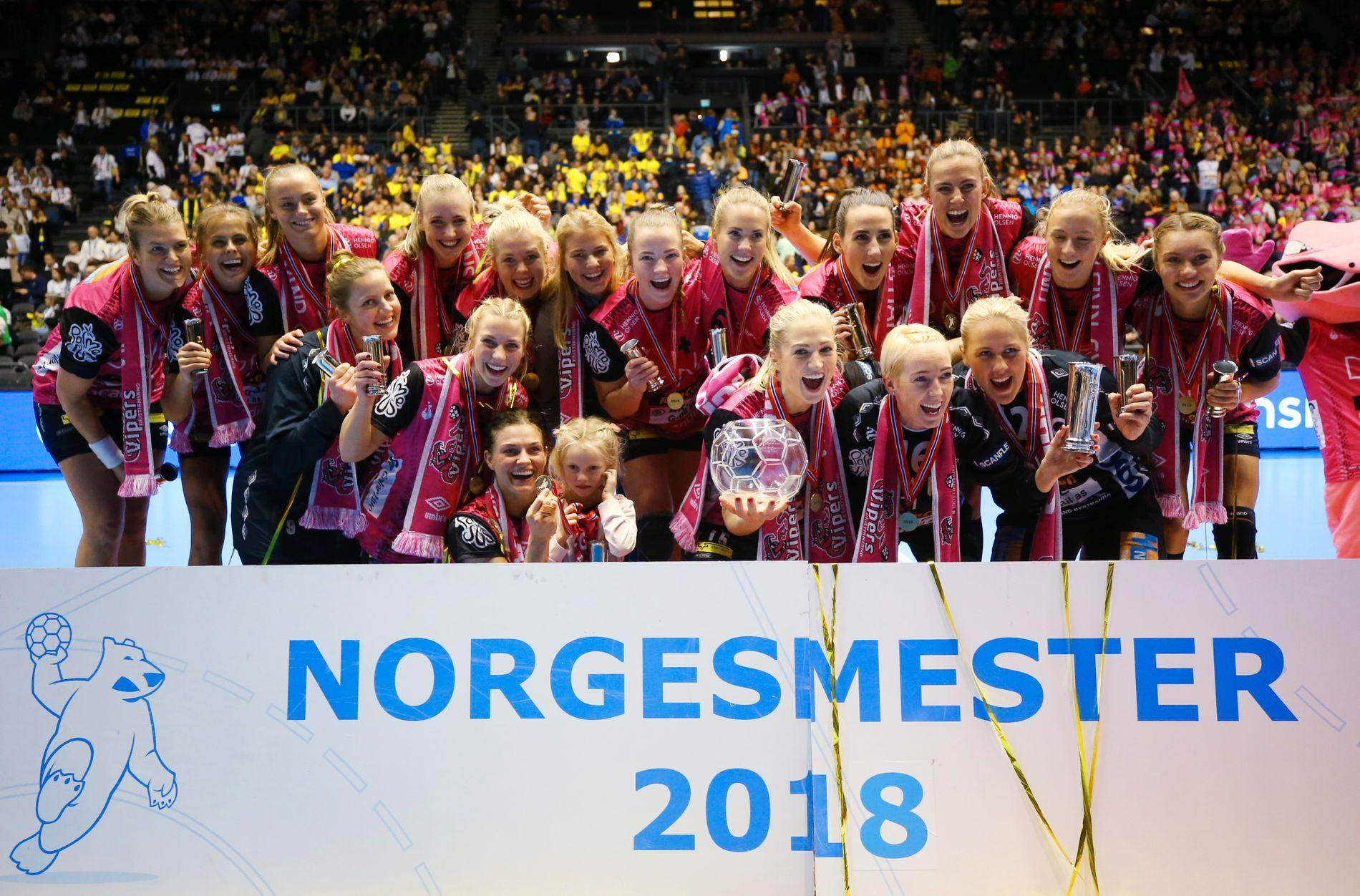 Vipers etter finaleseieren i Norgesmesterskapet 2018.