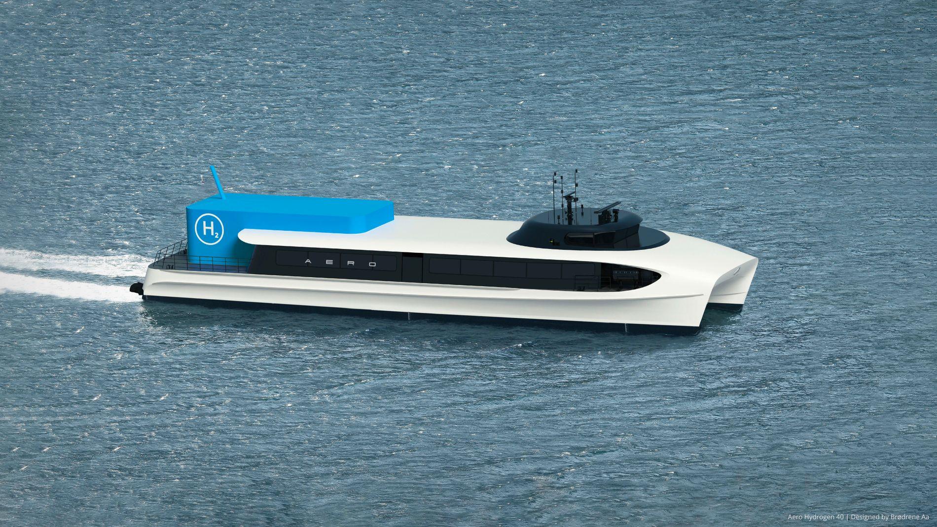 HYDROGEN: Nytt design over sjølinjen.