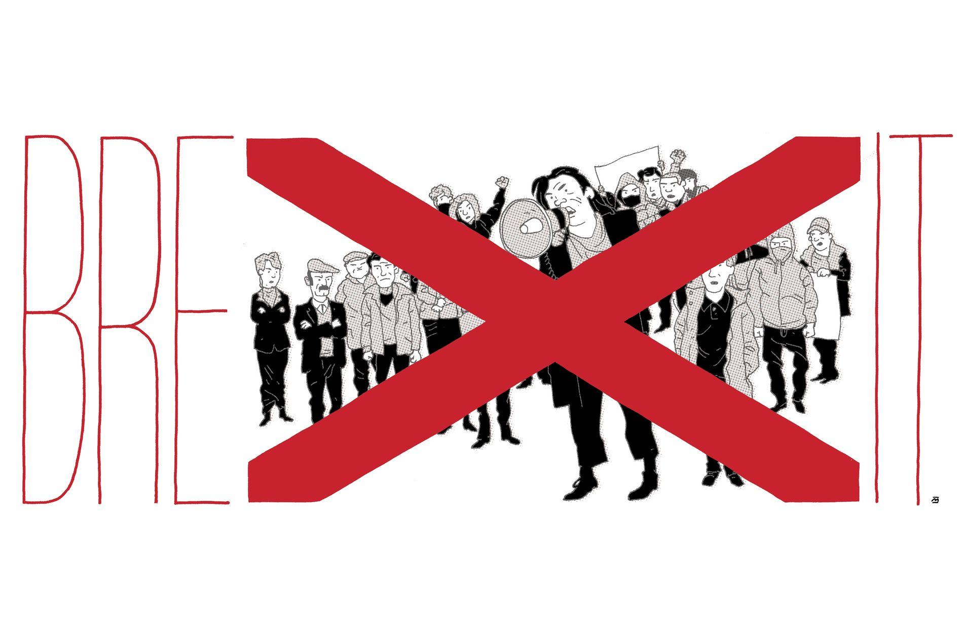 NORD-IRSK PROBLEM: – 29. mars går Storbritannia ut av EU, og det kan i verste fall øydeleggje fredsavtalen frå 1998, skriv Morten Myksvoll. ILLUSTRASJON: MARVIN HALLERAKER