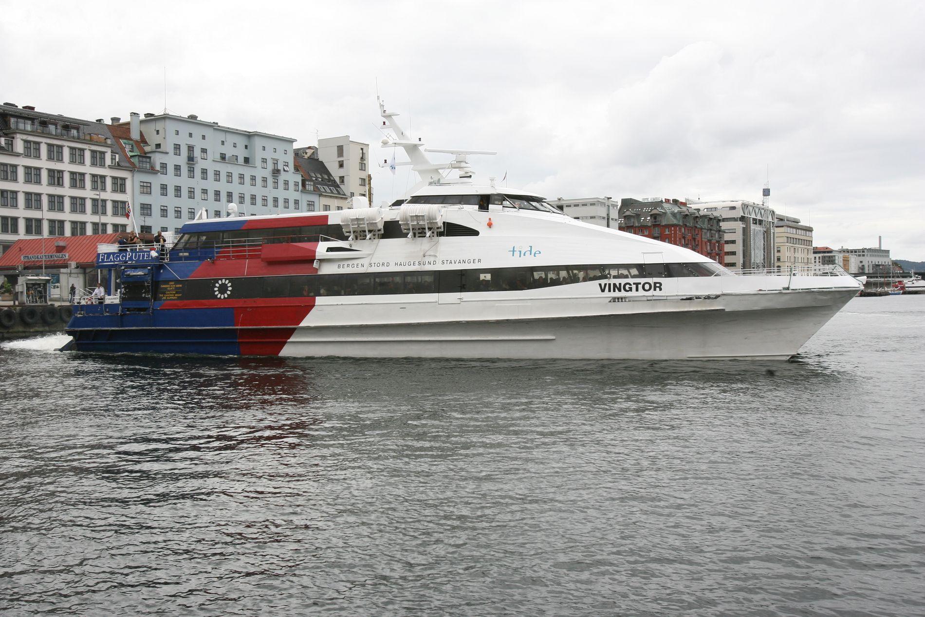 HISTORIE: Hurtigbåt-tilbudet mellom Stavanger og Bergen blir lagt ned. ARKIVFOTO: TOR HØVIK