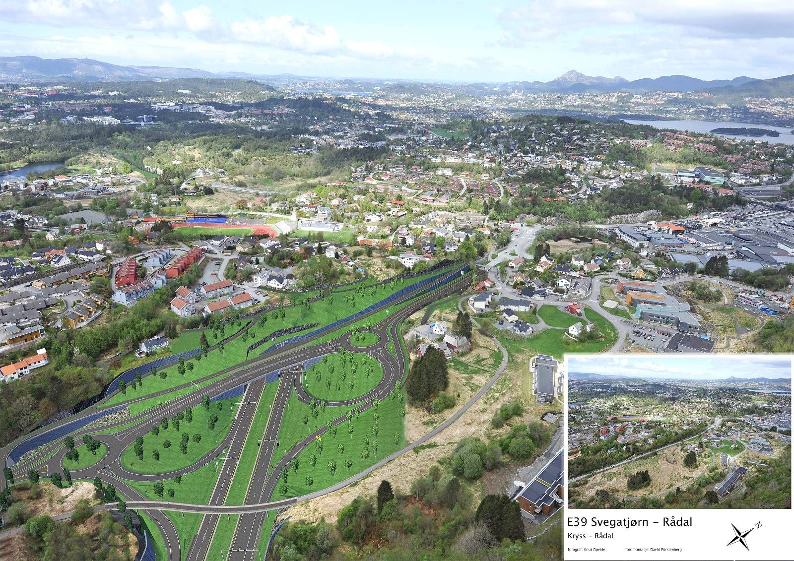 NY VEG: Prosjektet E39 Svegatjørn-Rådal ble etablert for å bygge ny hovedveg mellom Os og Bergen. Utbyggingen starter ved Svegatjørn i Os og fortsetter til Rådalen i Bergen. FOTO: Statens Vegvesen