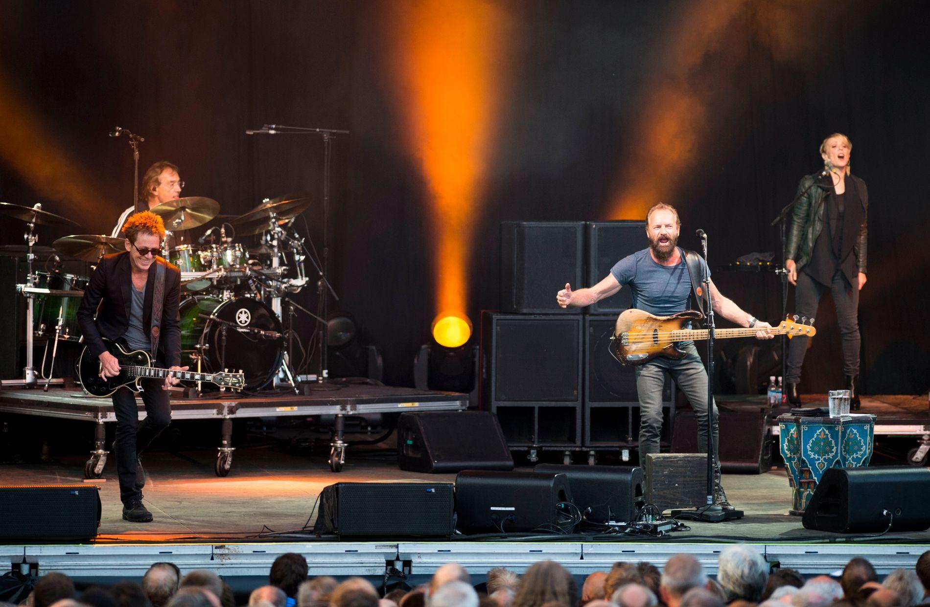 SLAPP STING: Anmelder Petter Lønningen tar ikke av etter fredagens konsert på Plenen.