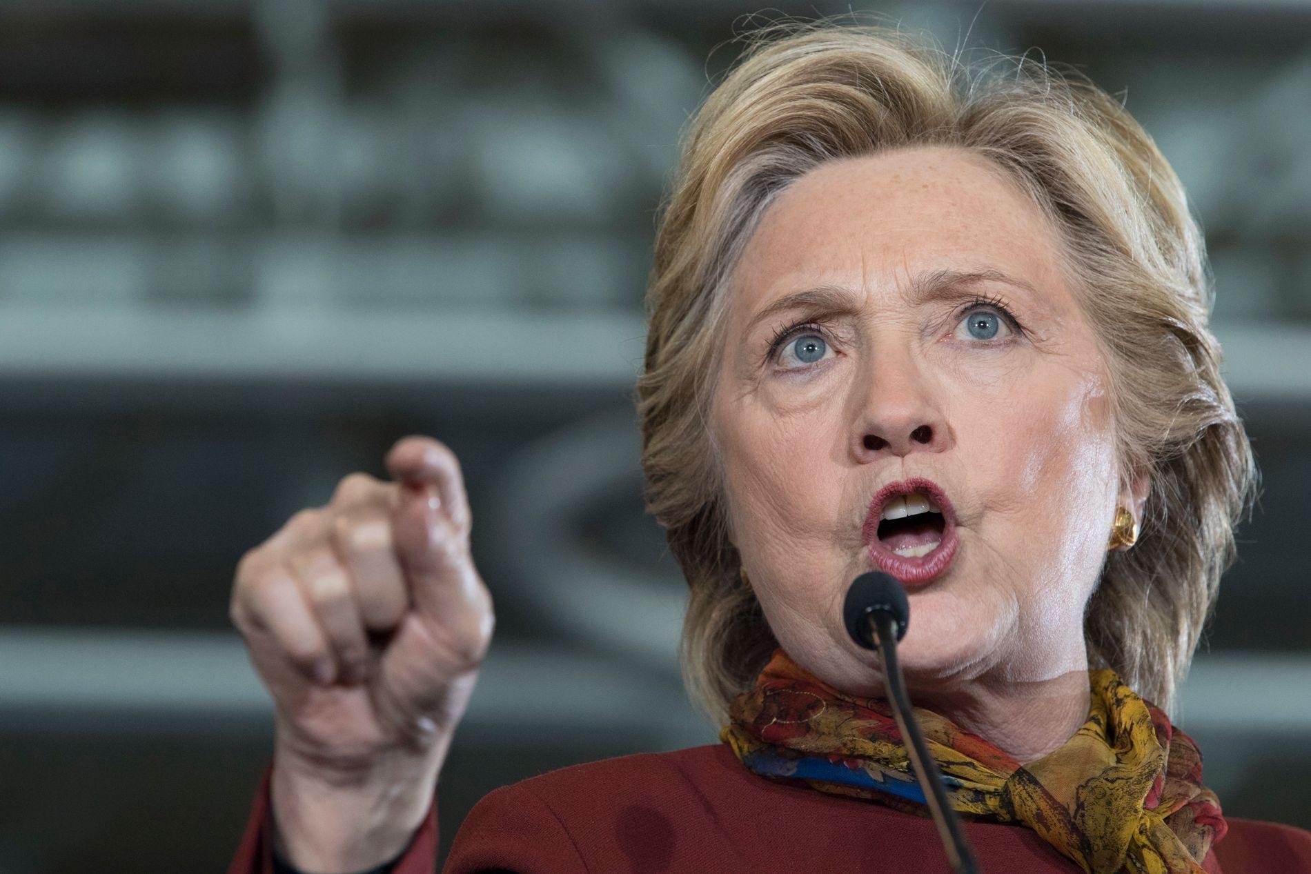 MOTKANDIDAT: Hillary Clinton fra Det demokratiske partiet.