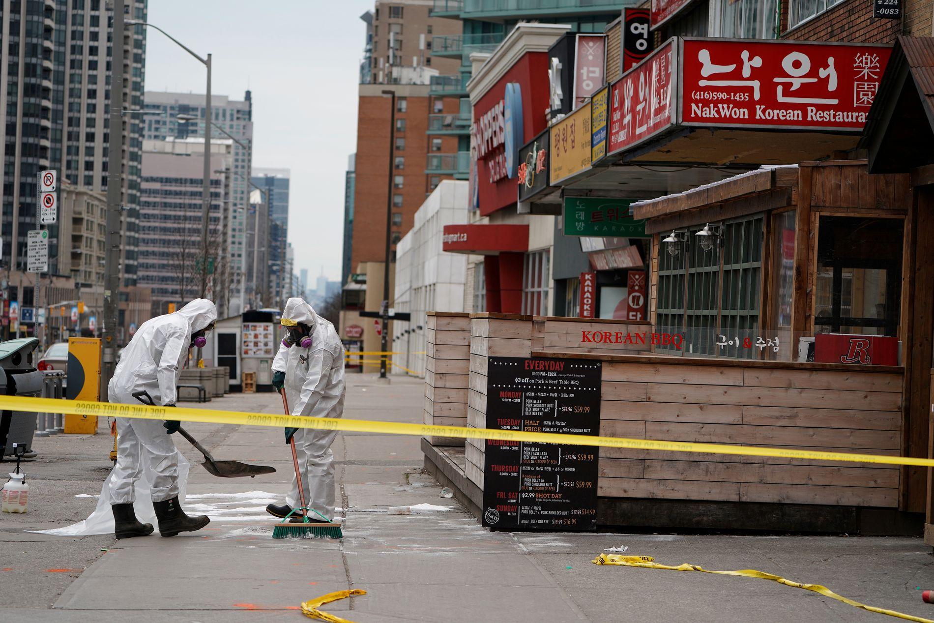 ÅSTEDET: Mannen som skal ha meiet ned og drept ti fotgjengere i Toronto i april, oppga selv at han var inspirert av den såkalte incel-bevegelsen.