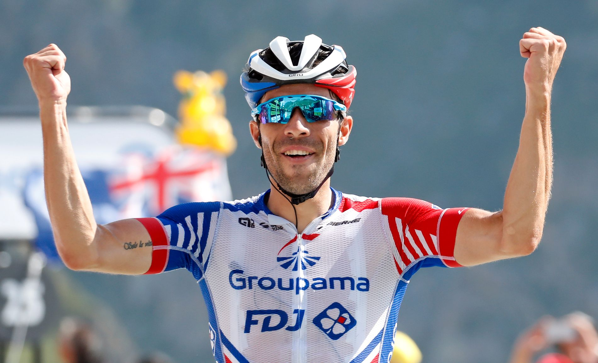 Thibaut Pinot vant lørdagens etappe.