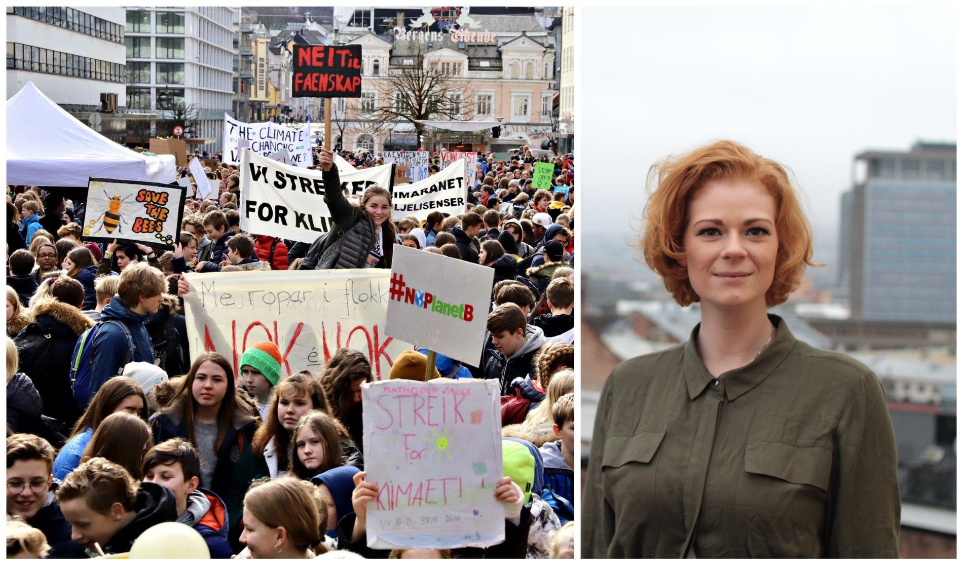 MANGLER STEMMERETT: Streikene er spesielt viktige fordi flertallet av skoleelever ikke har muligheten til å stemme, skriver Anne Sofie Bergvall.